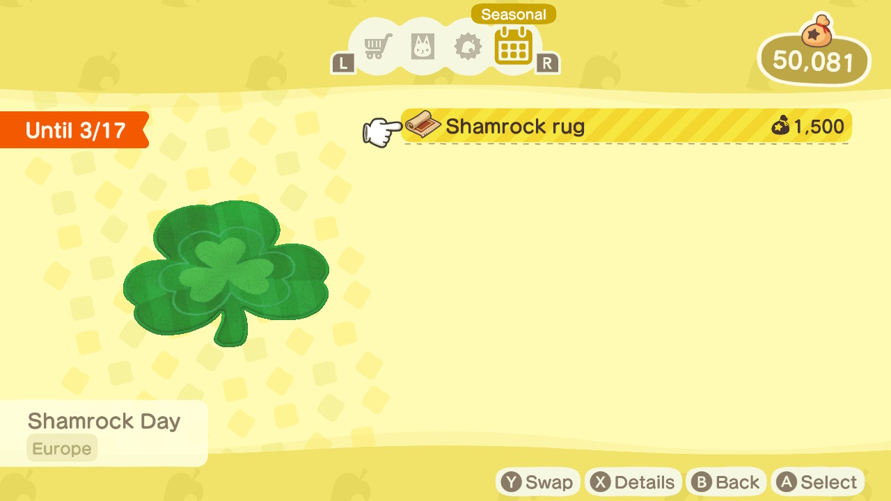 how to get shamrock day items in Animal Crossing: New Horizons