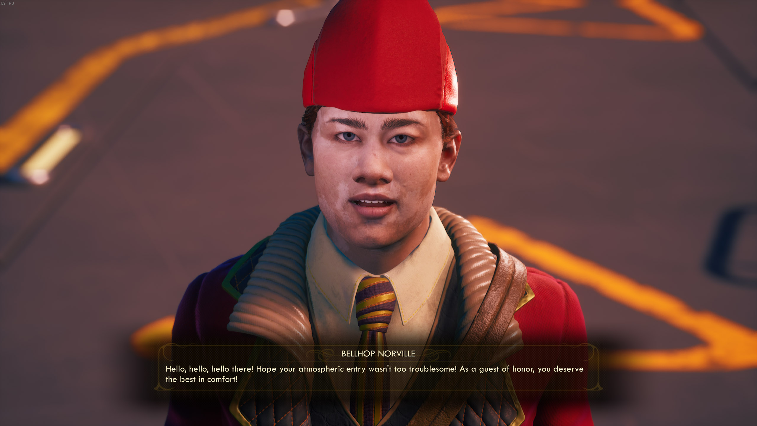 talk to Bellhop Norvile - The Outer Worlds: Murder on Eridanos