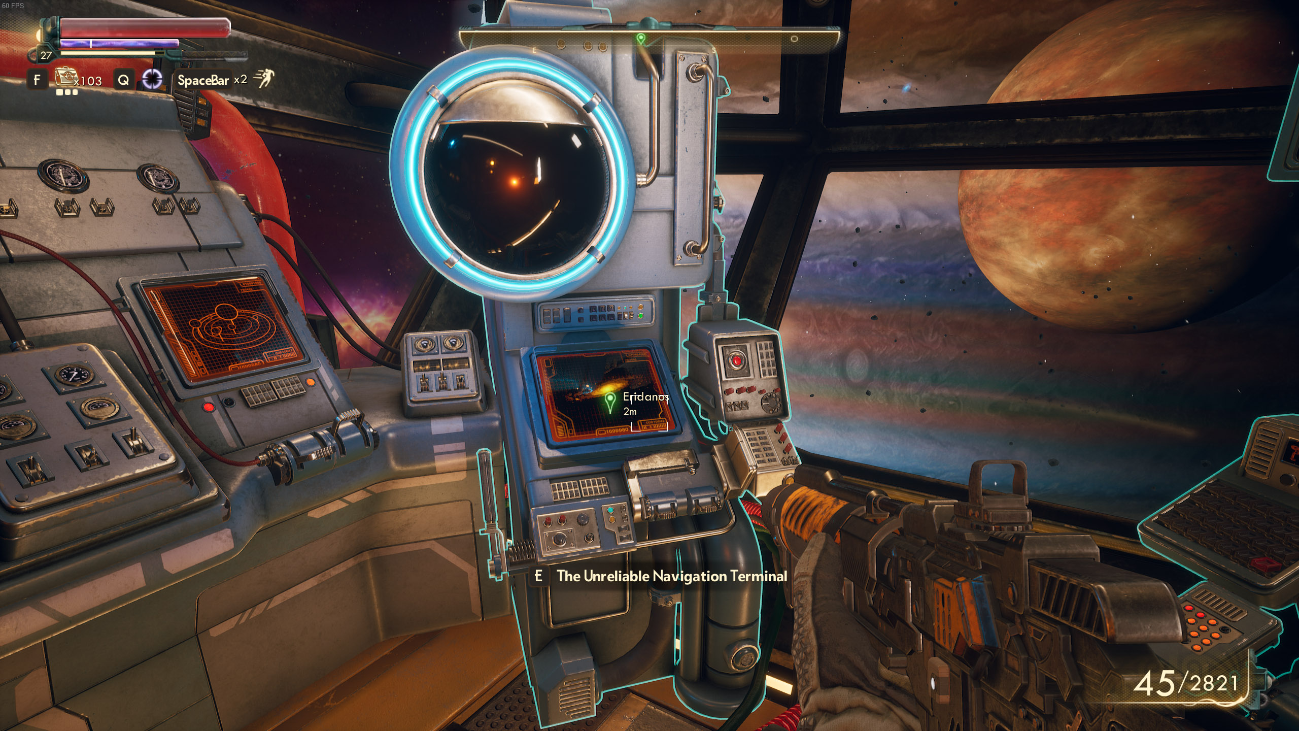 where to find Eridanos - The Outer Worlds