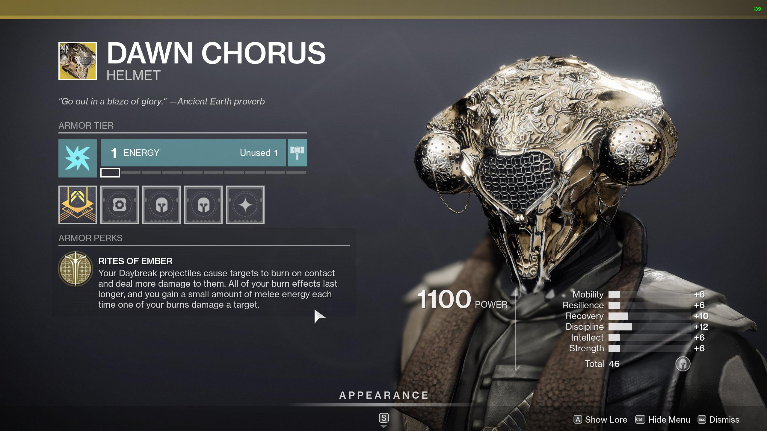 destiny 2 exotic warlock armor dawn chorus