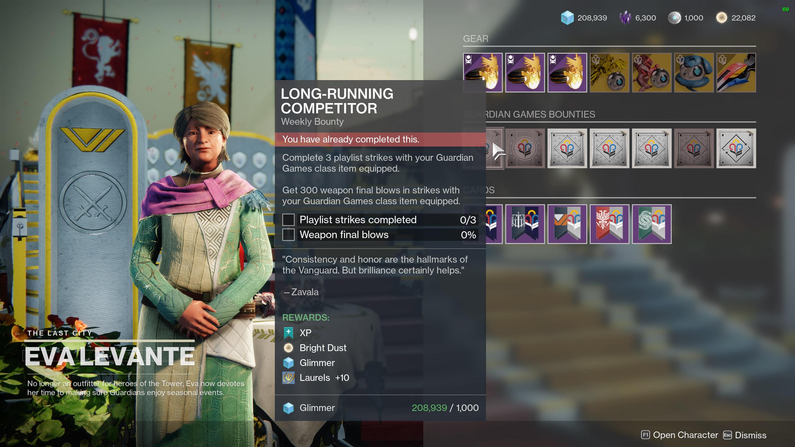 destiny 2 laurels eva weekly bounties