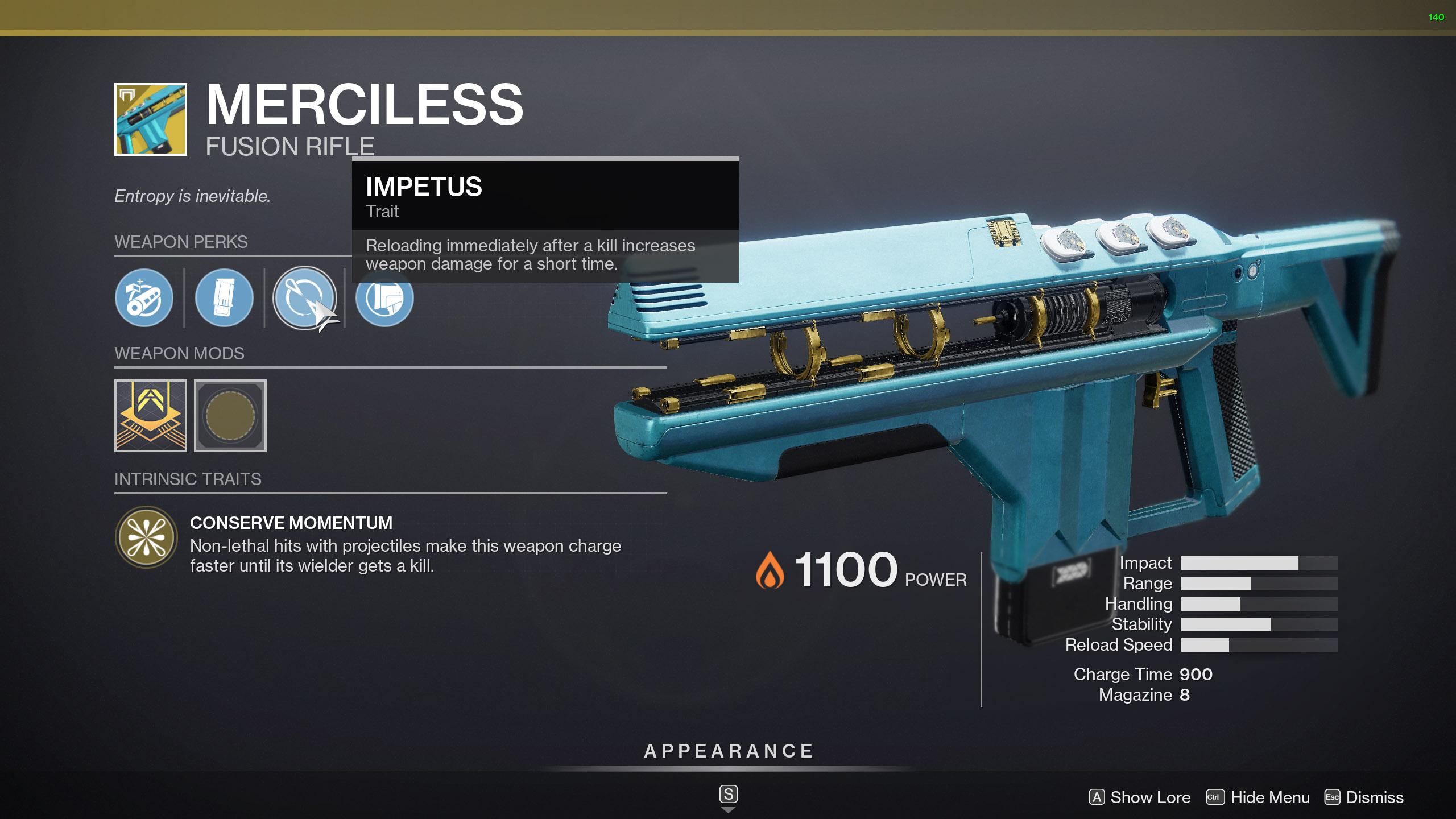 destiny 2 merciless perks