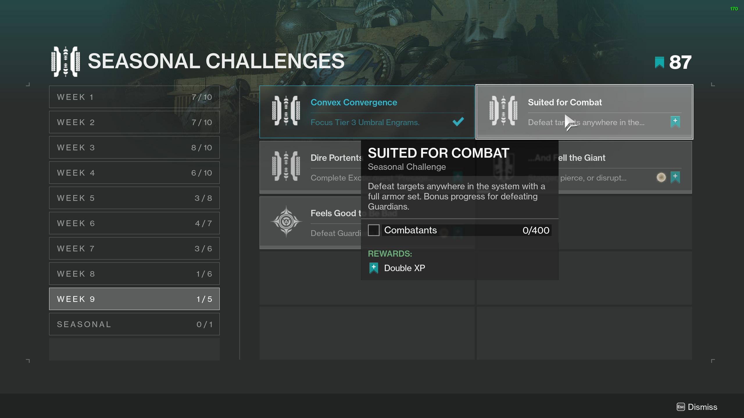 destiny 2 suited for combat