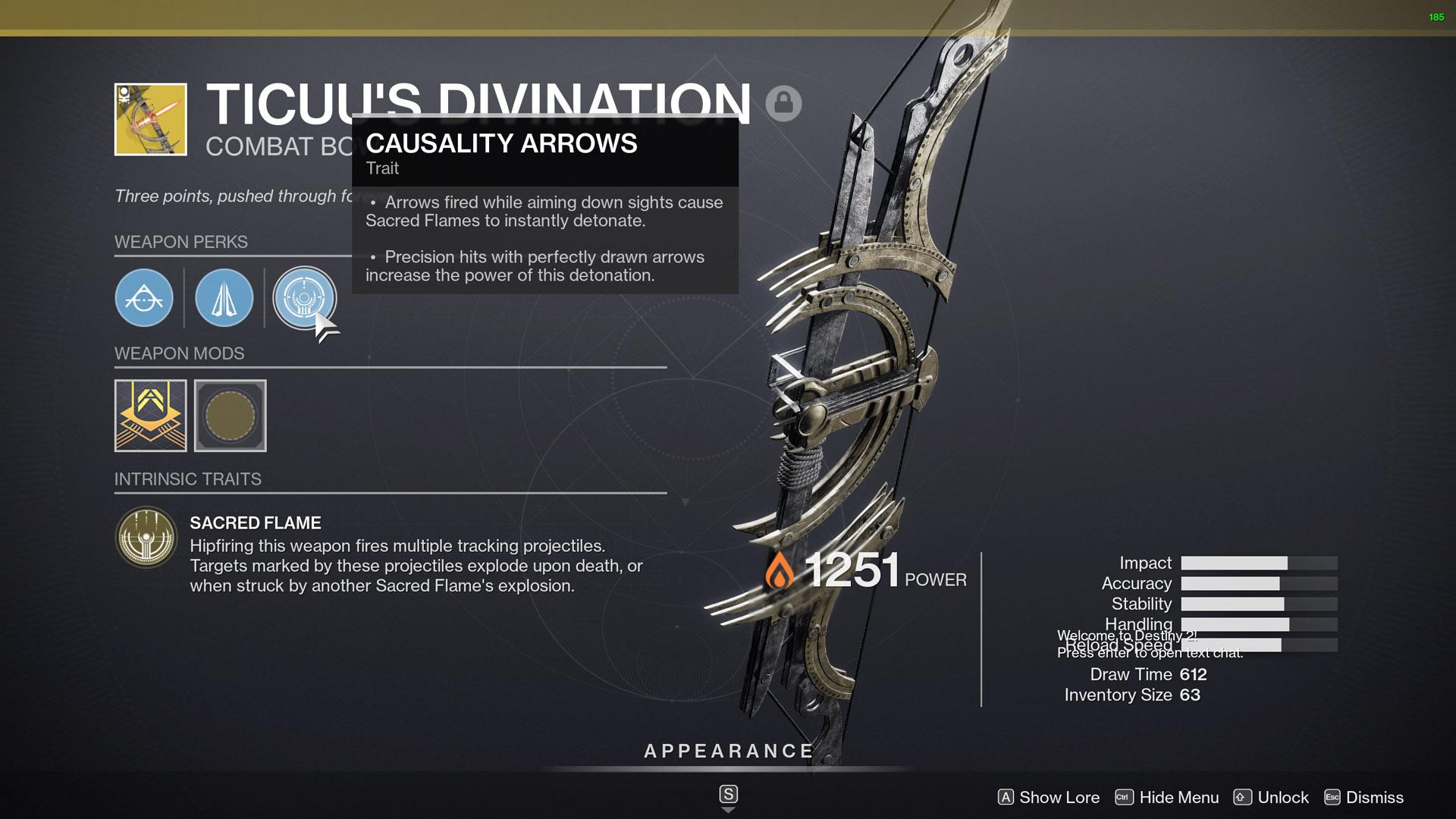 destiny 2 ticuus divination perks