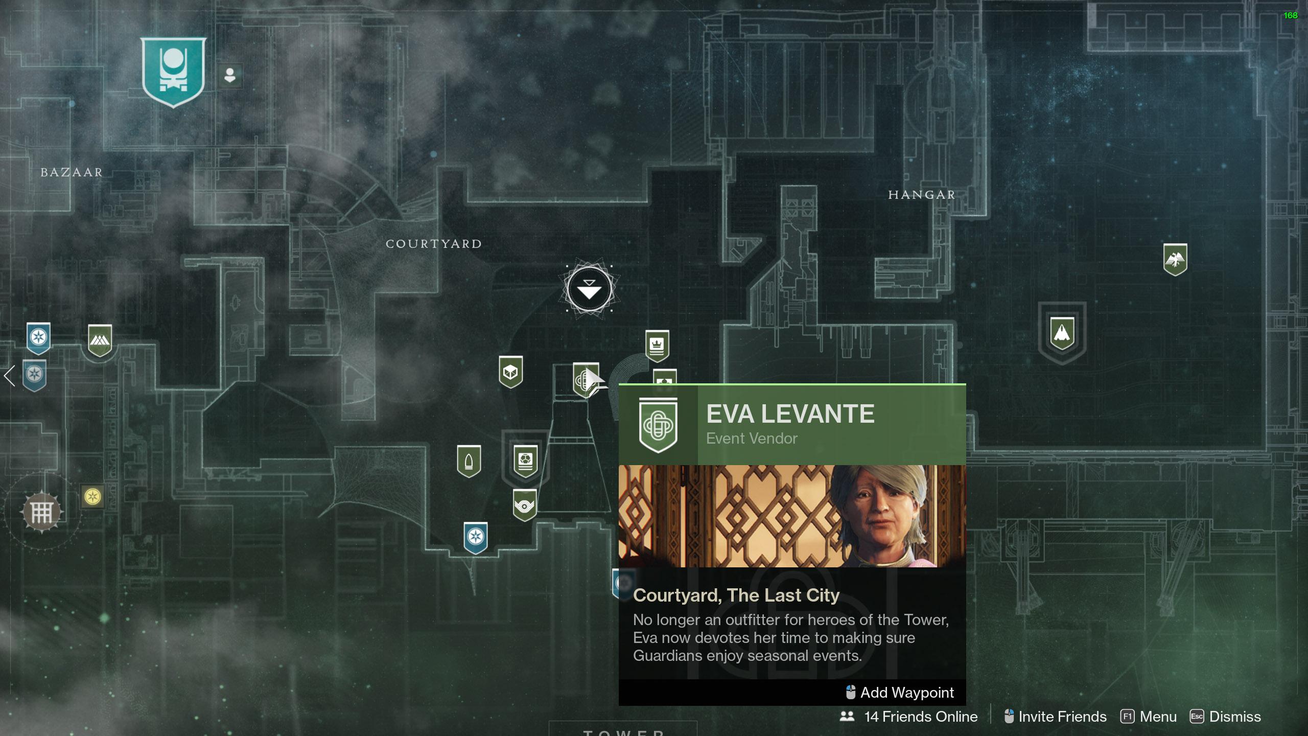 destiny 2 where to find Eva Levante