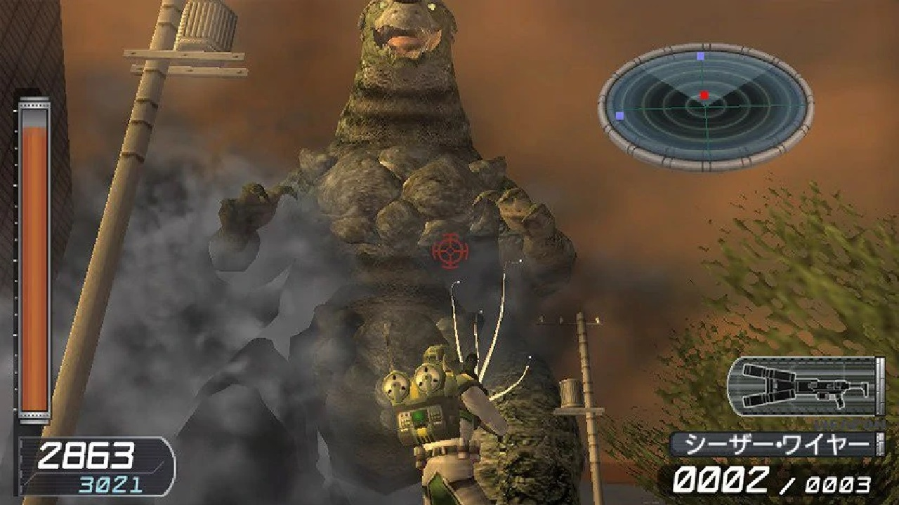 According to EDF producer Noboyuki Okajima, Monster Attack and Global Defence Force's Saurous proved to be an ongoing challenging to design in Earth Defense Force: World Brothers' style.