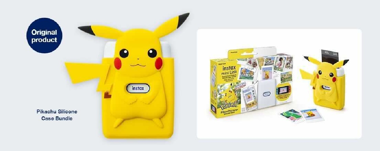 The Instax Mini Link for Nintendo Switch smartphone printer will feature a special Pikachu case bundle in celebration of the launch of New Pokemon Snap at the end of April.