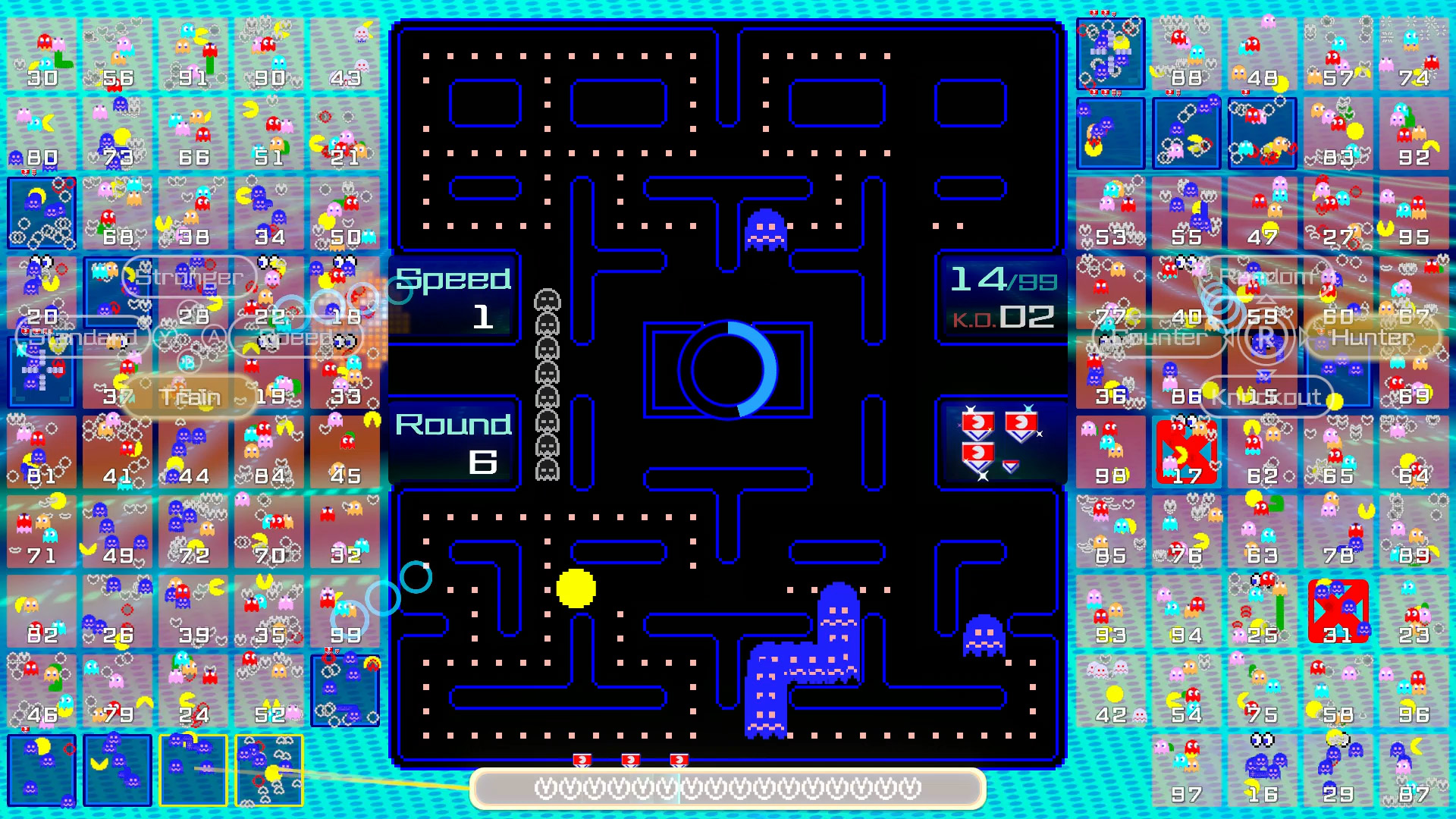 pac-man 99 how shield badges work