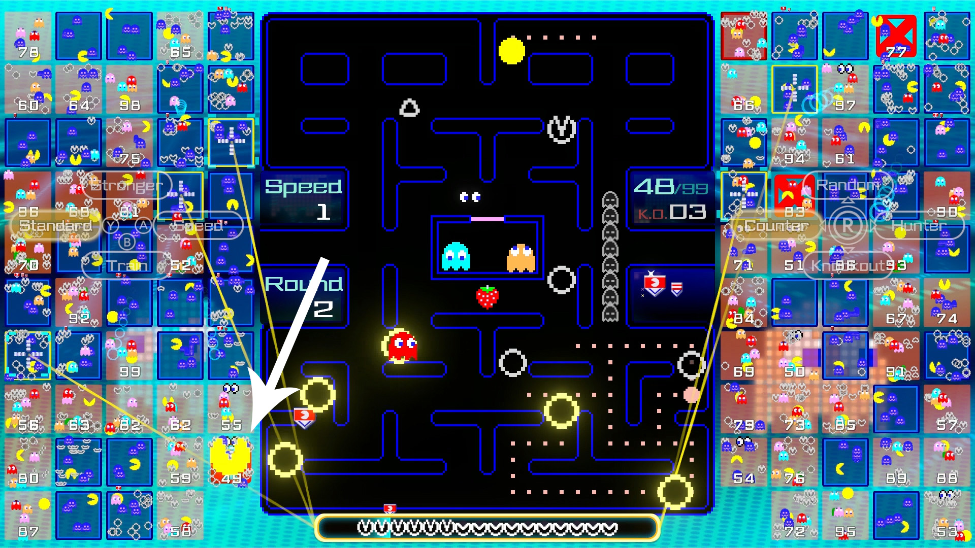 pac-man 99 how to get shield badges