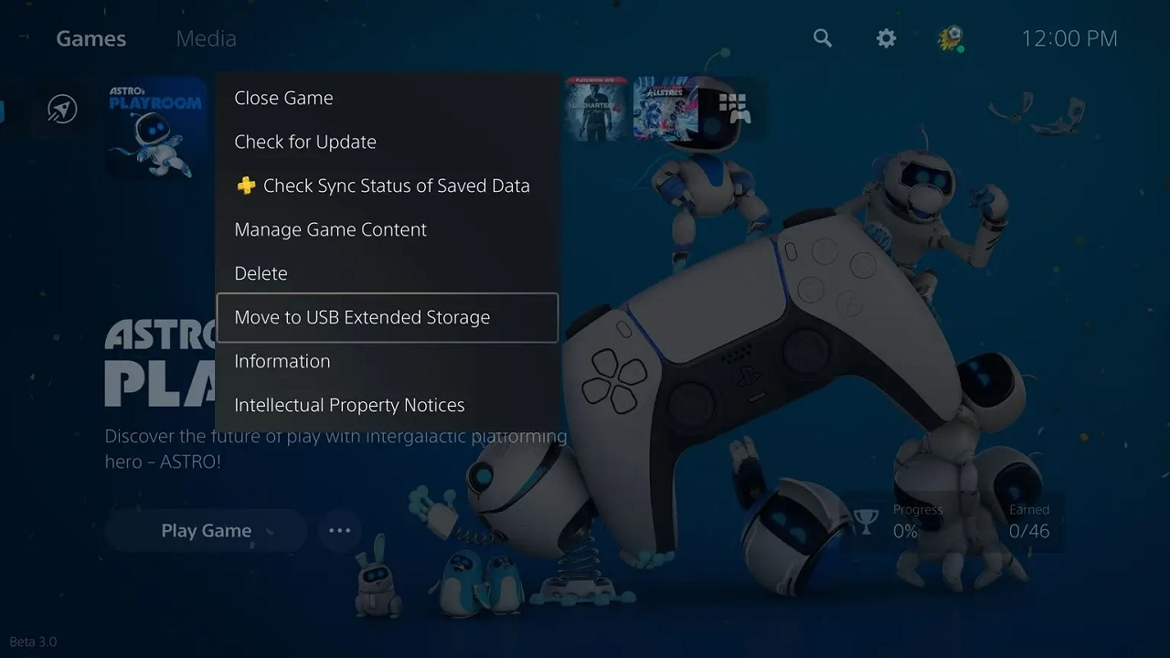 By utilizing a supported USB external HDD, players can move PS5 games to the external storage to free up space on their console after the April PS5 update.