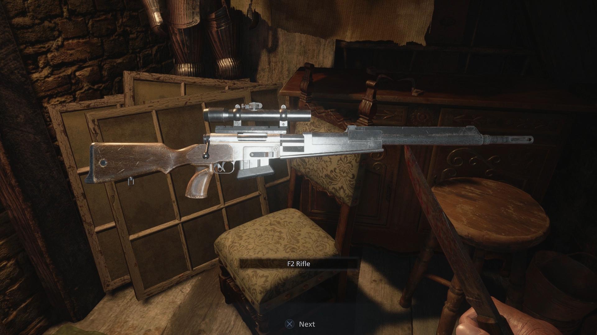 resident evil village f2 sniper rifle