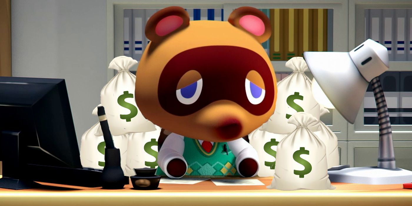 Tom Nook seen here with his diamond hands and fat paper stacks.
