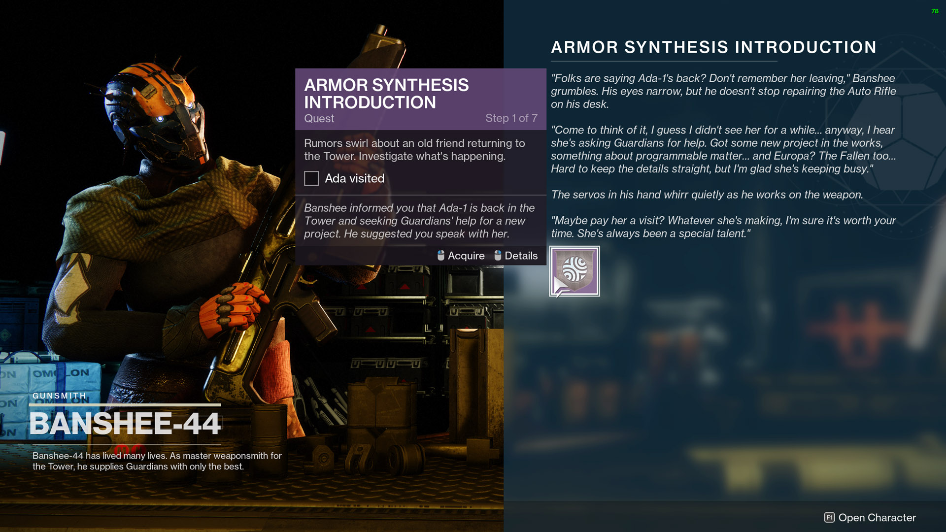 destiny 2 armor synthesis introduction