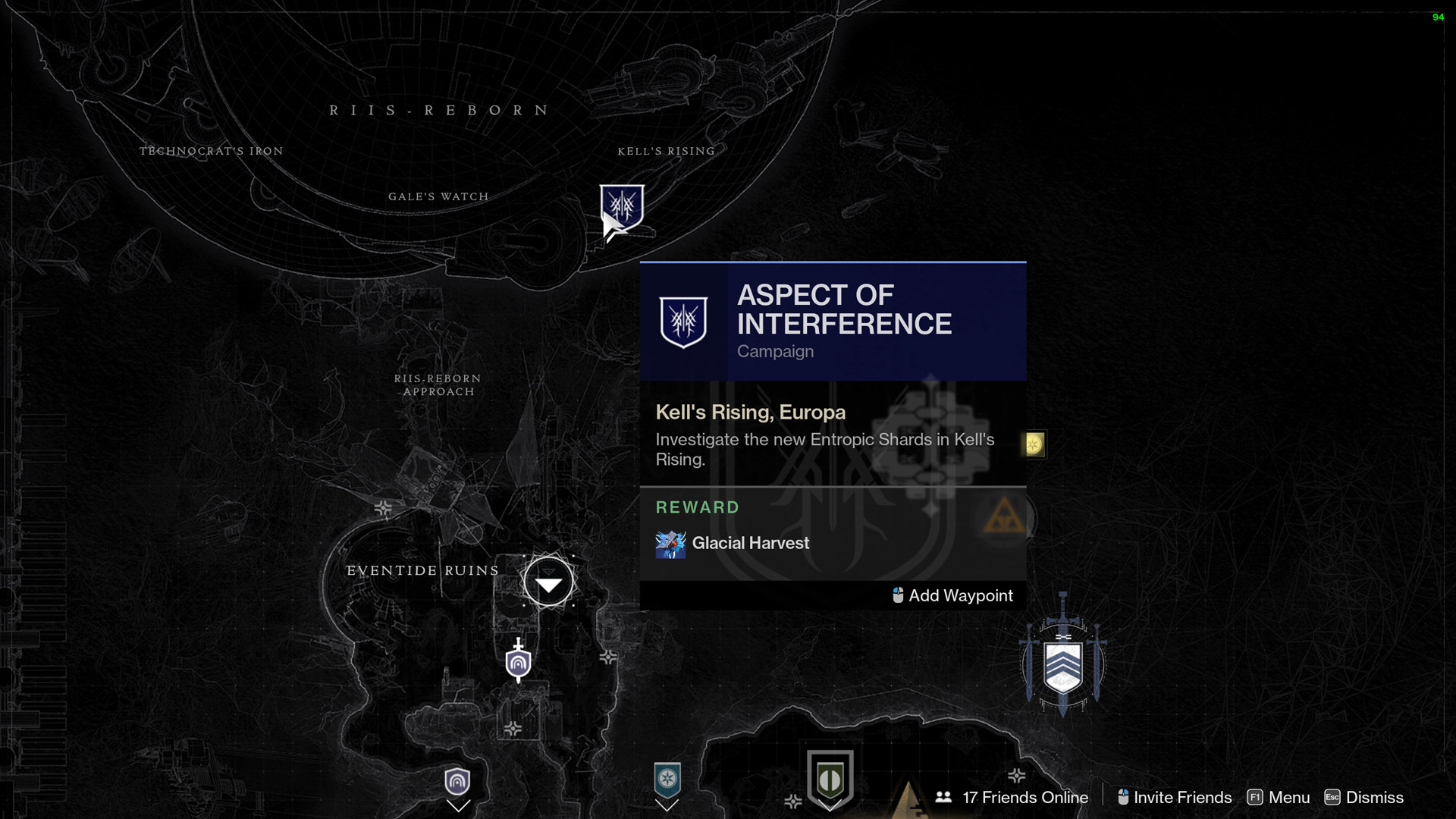 destiny 2 aspect of interference kells rising