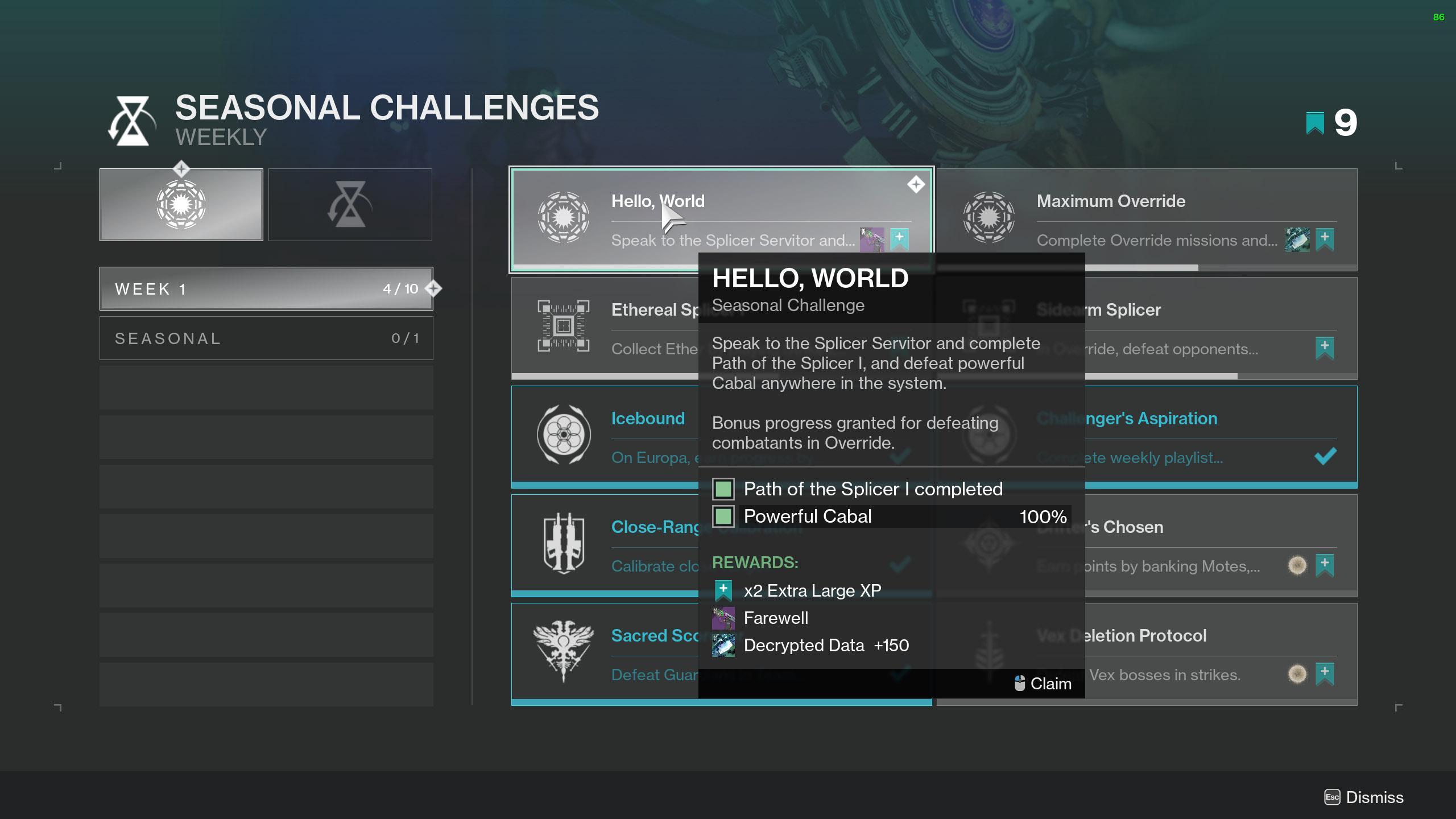 destiny 2 decrypted data seasonal challenges