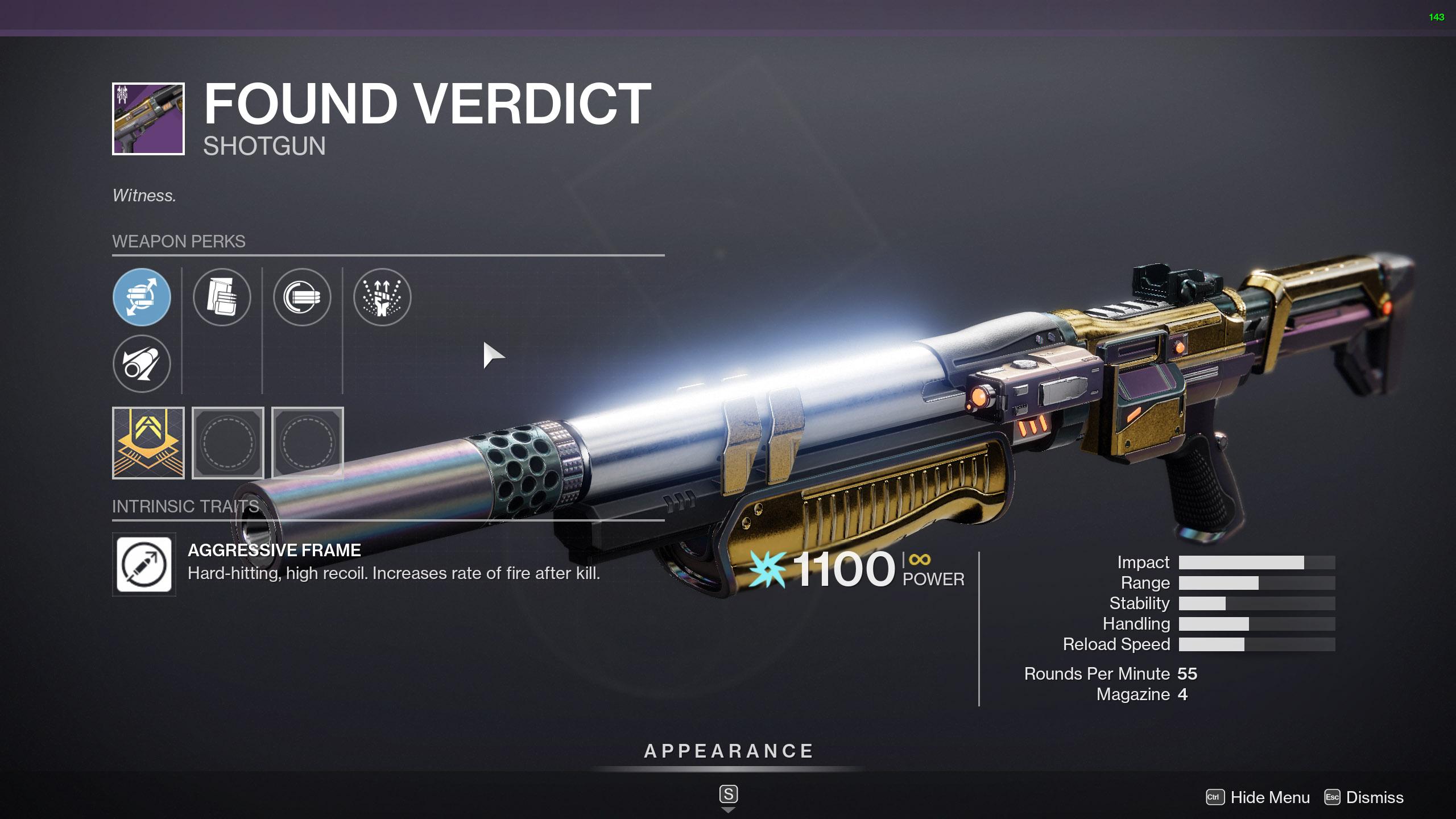 destiny 2 found verdict