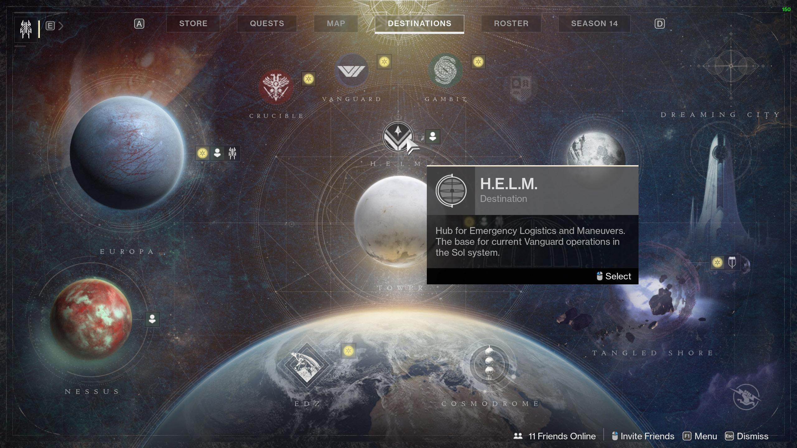 destiny 2 helm location