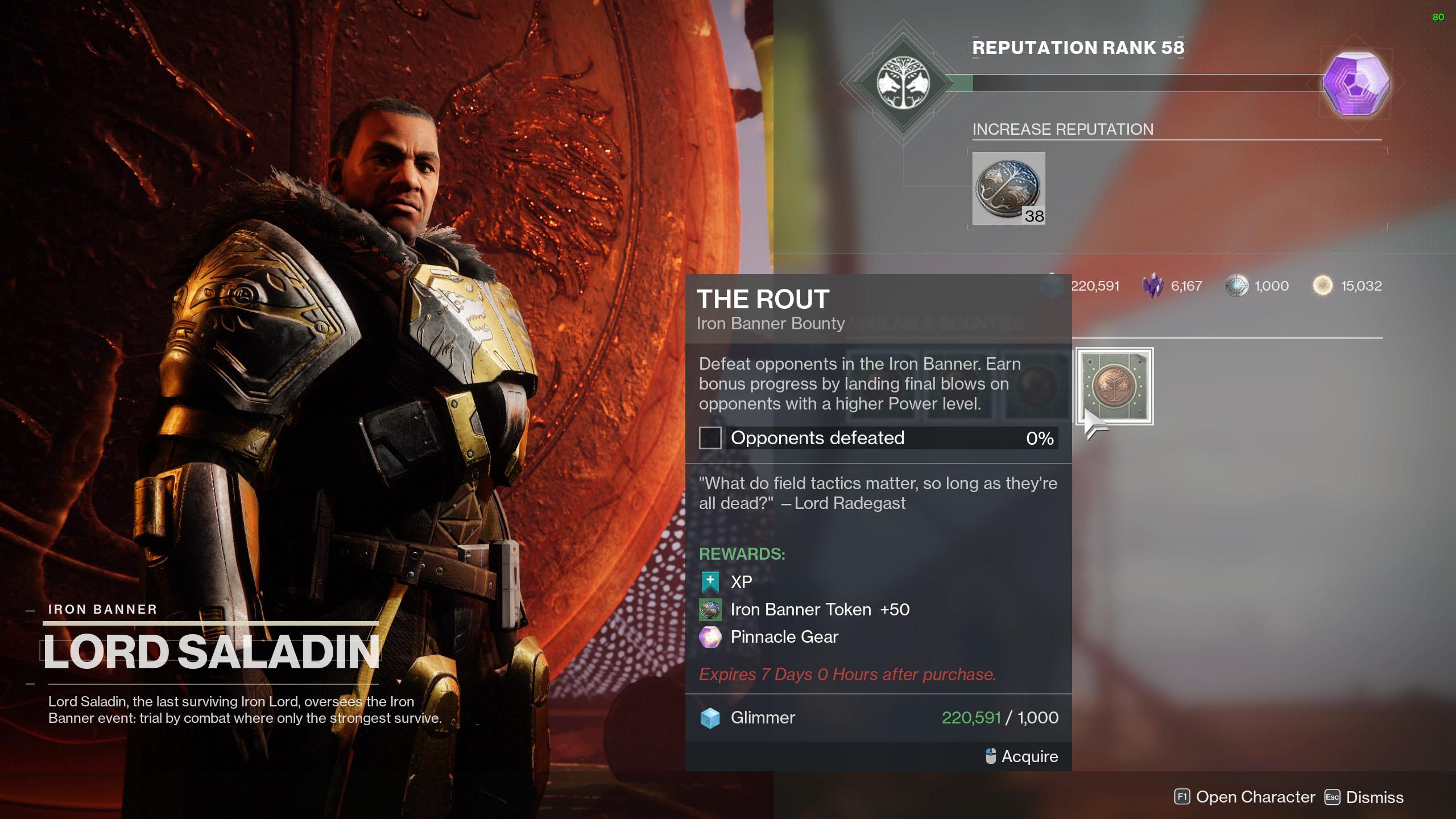 destiny 2 iron banner season 14 bounties the rout