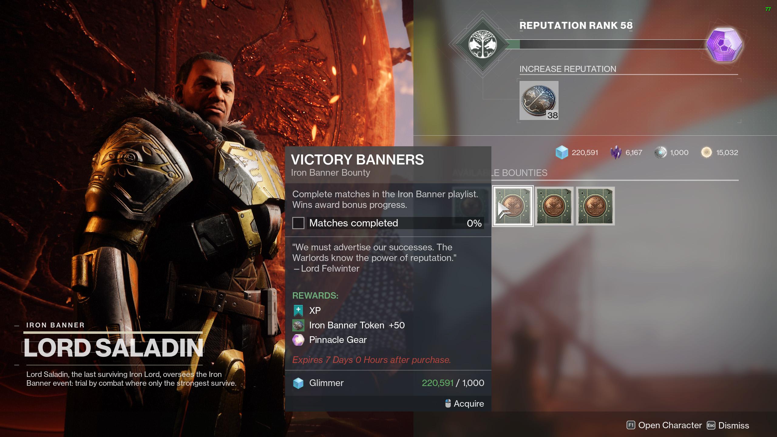 destiny 2 iron banner season 14 bounties victory banners
