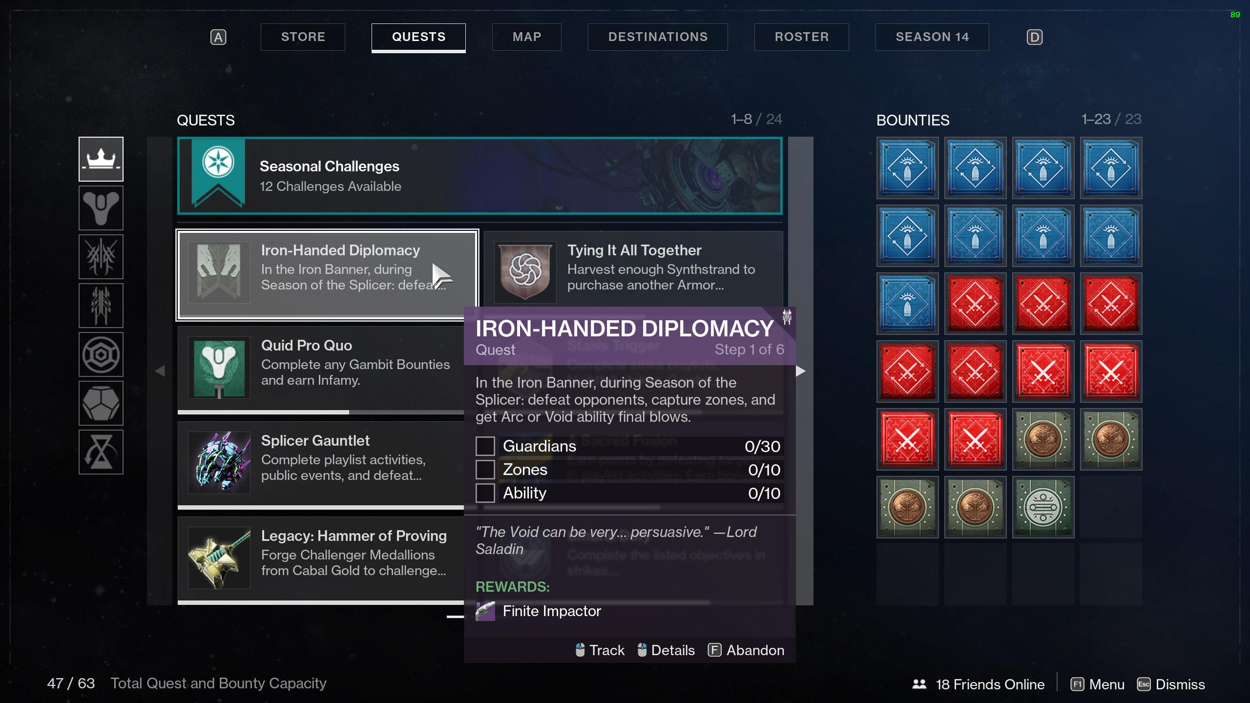 destiny 2 iron banner season 14 quest iron-handed diplomacy