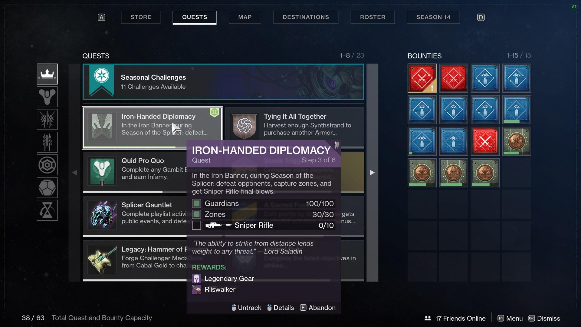 destiny 2 iron banner season 14 quest