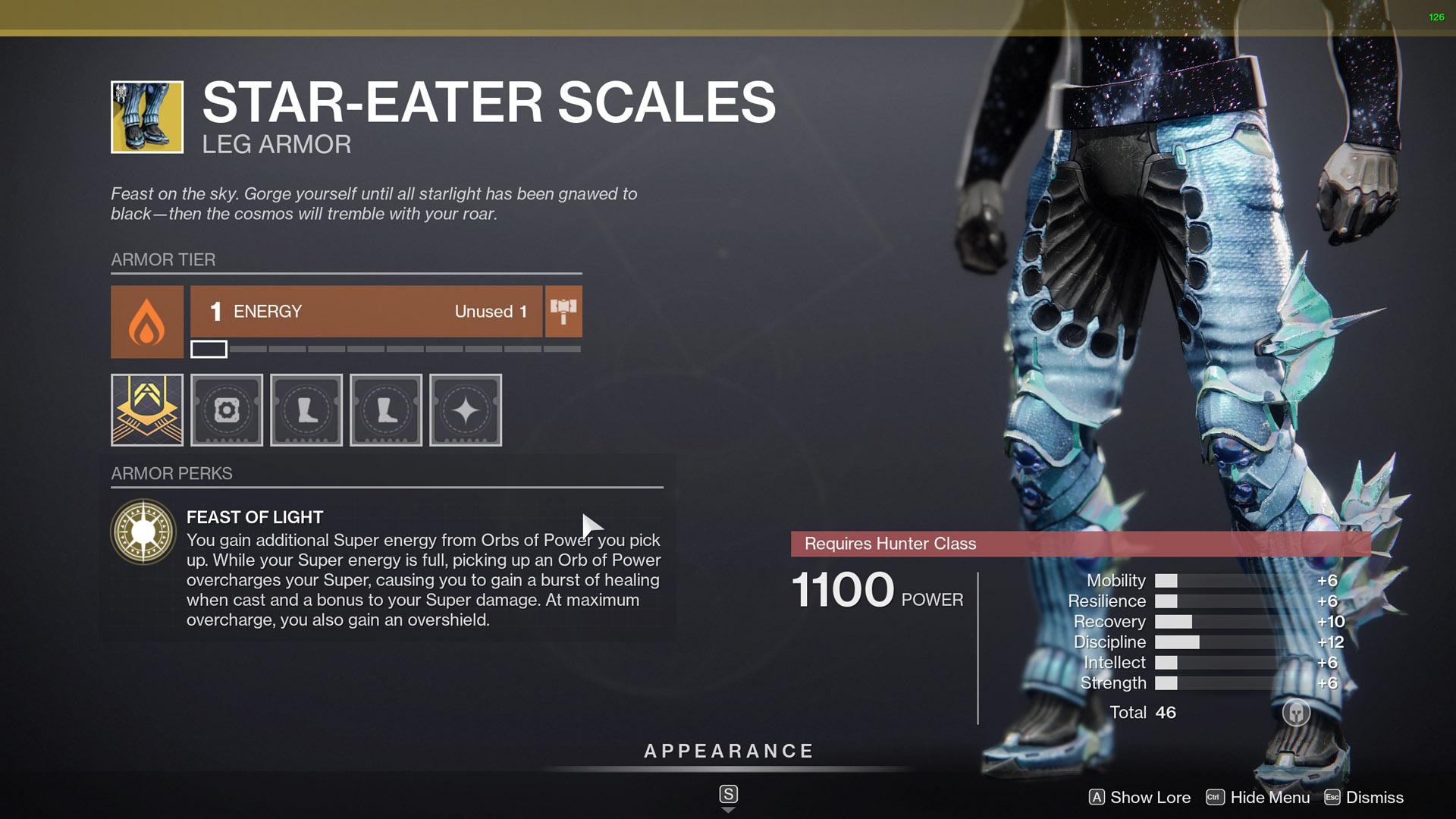 destiny 2 star-eater scales perk feast of light