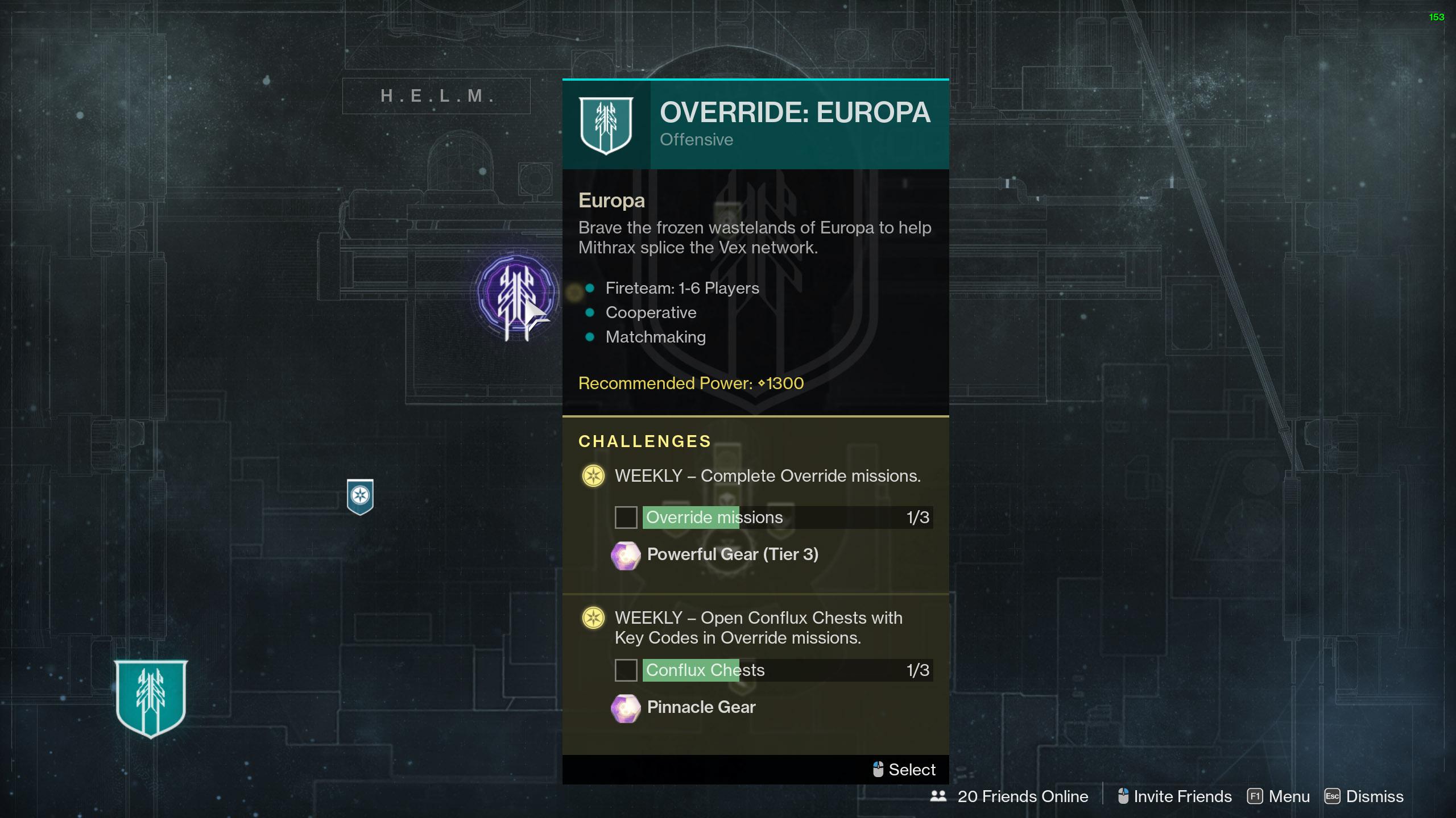 destiny 2 start override