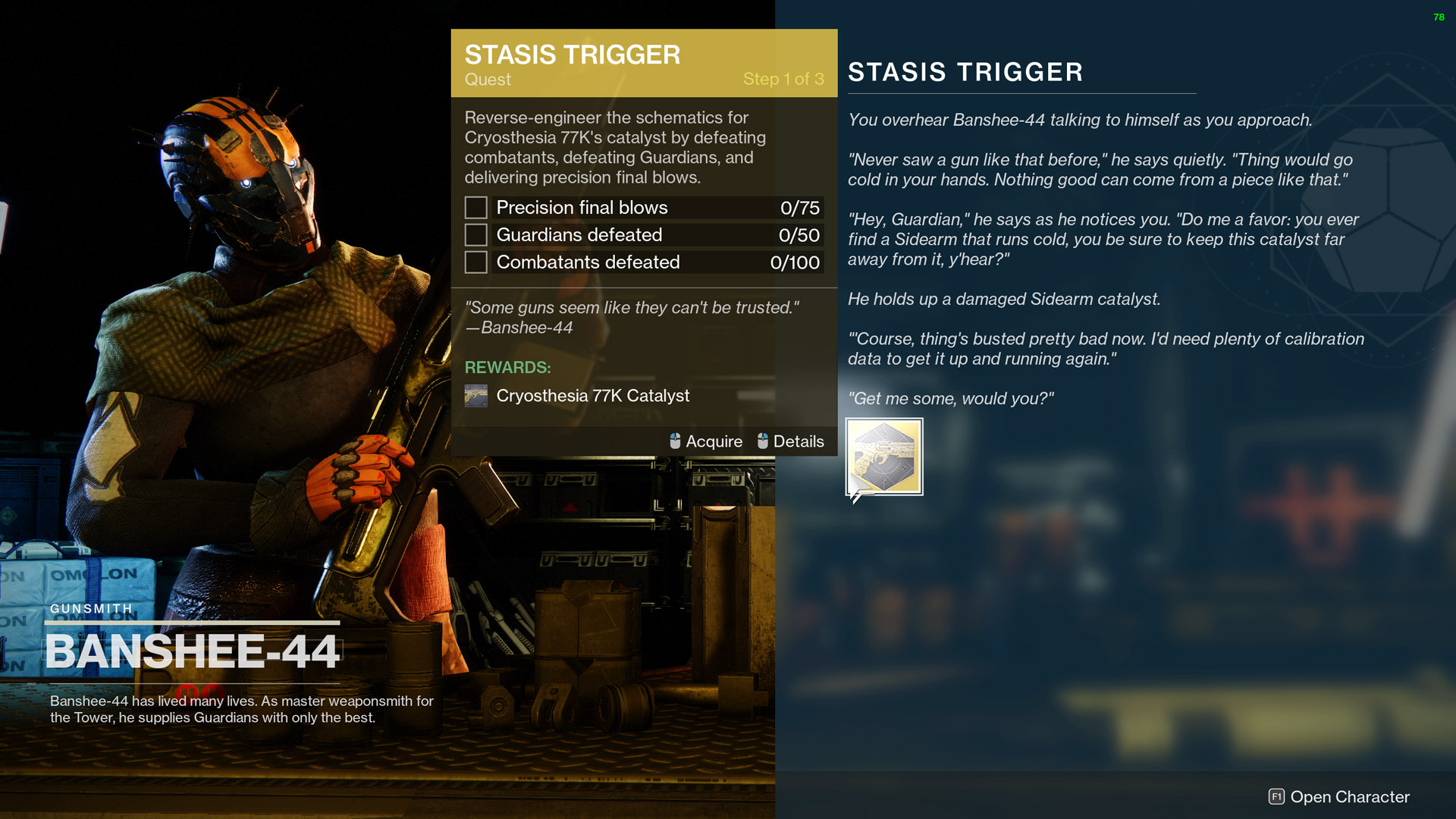 destiny 2 stasis trigger quest