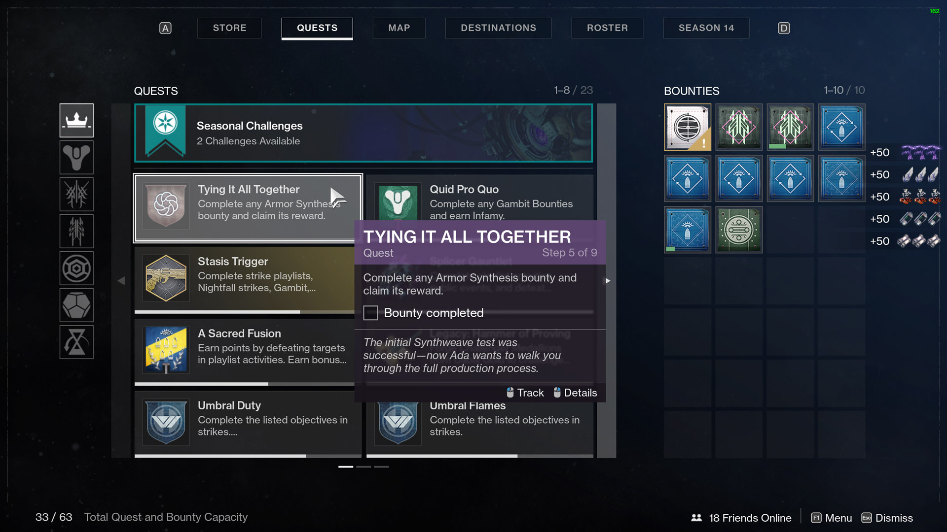destiny 2 tying it all together