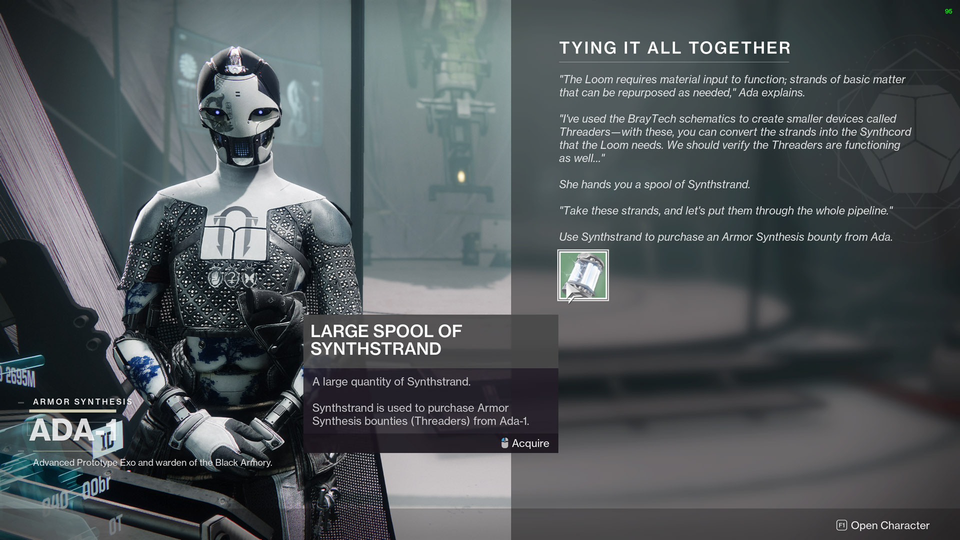 destiny 2 tying it all together large spool of synthstrand
