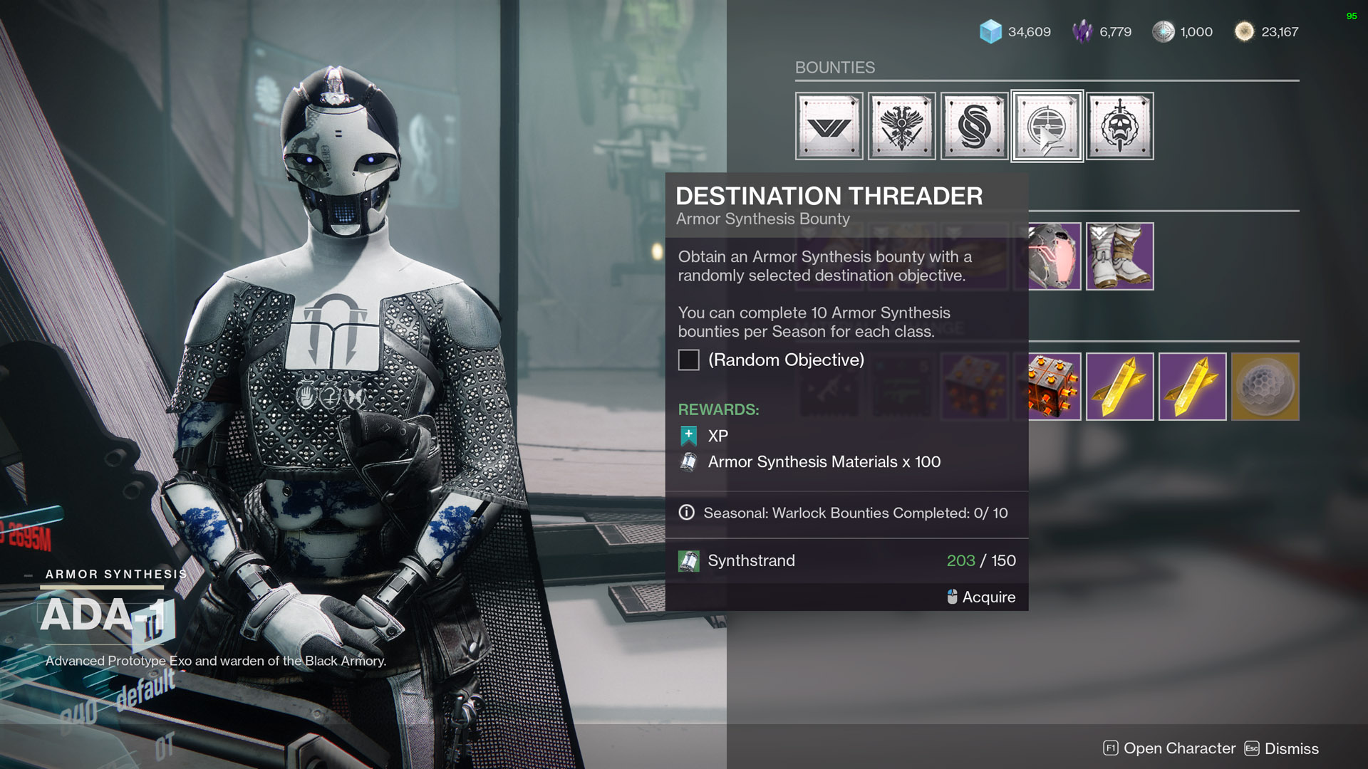 destiny 2 tying it all together purchase armor synthesis bounty