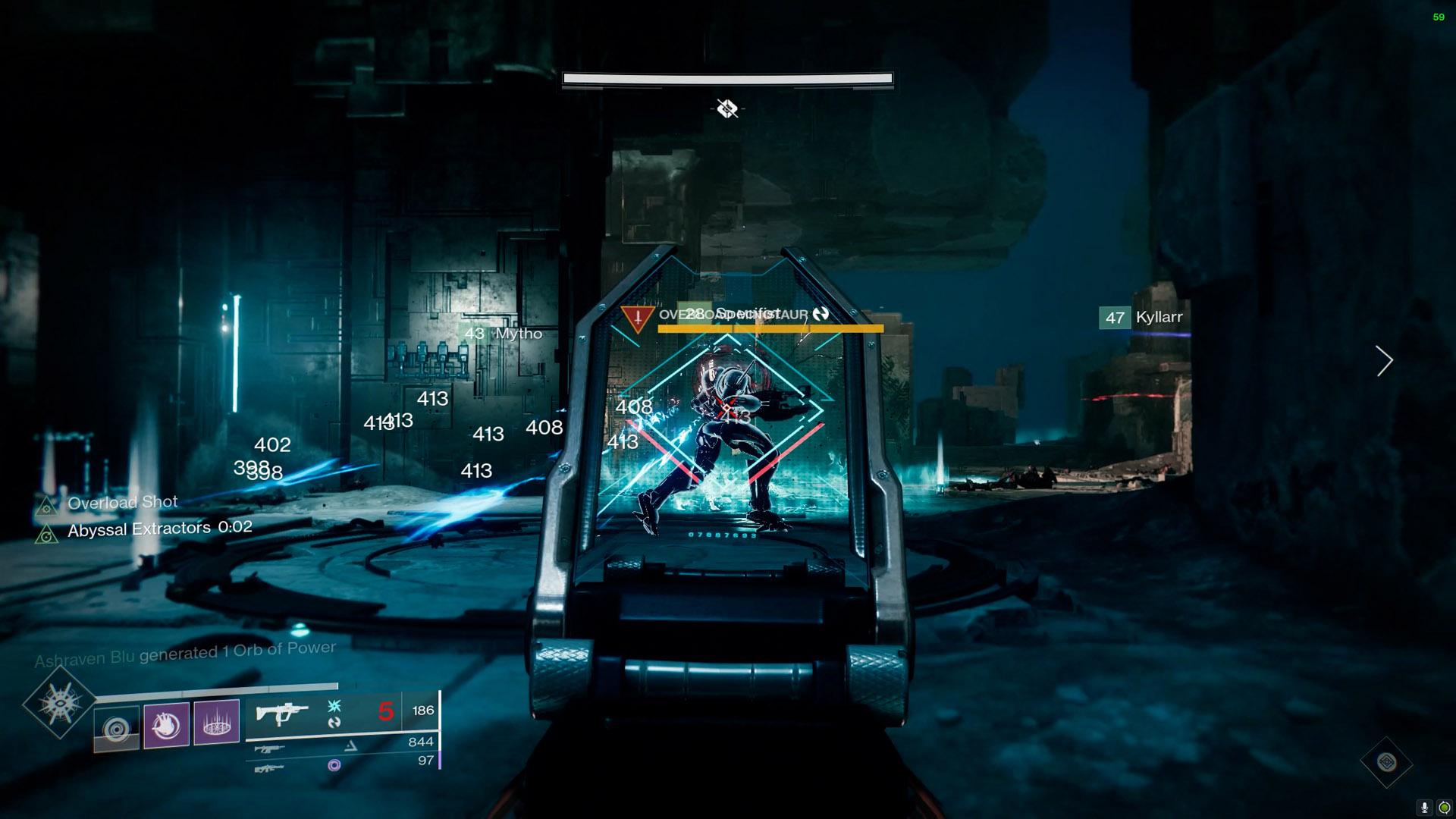 destiny 2 vault of glass confluxes overload minotaur