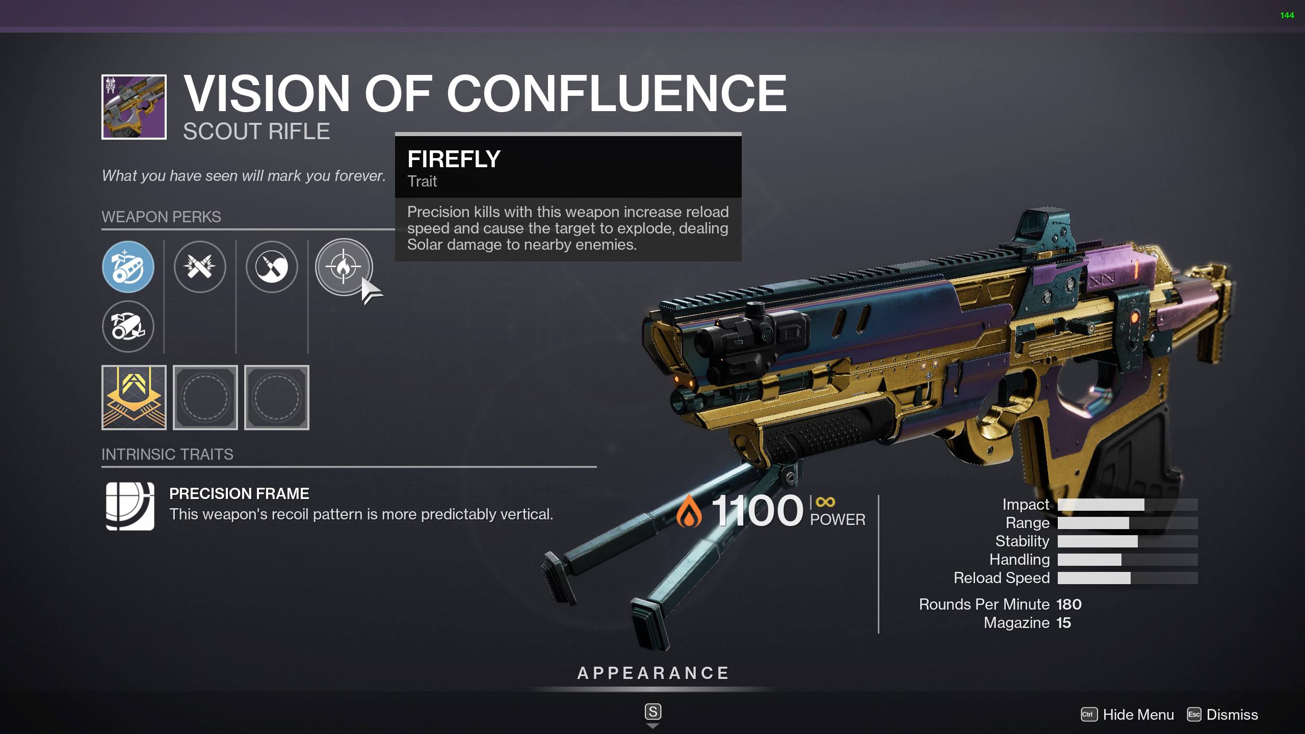 destiny 2 visions of confluence god roll