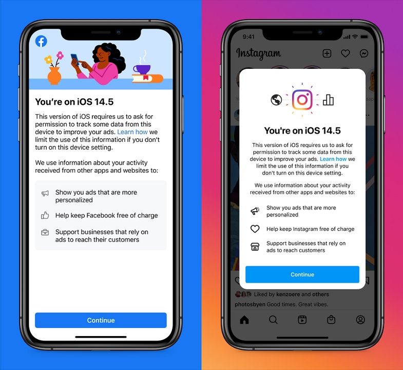 In the wake of iOS 14.5's App Tracking Transparency features, Facebook seems to threaten that blocking user tracking could keep both the core app and Instagram from remaining free services.