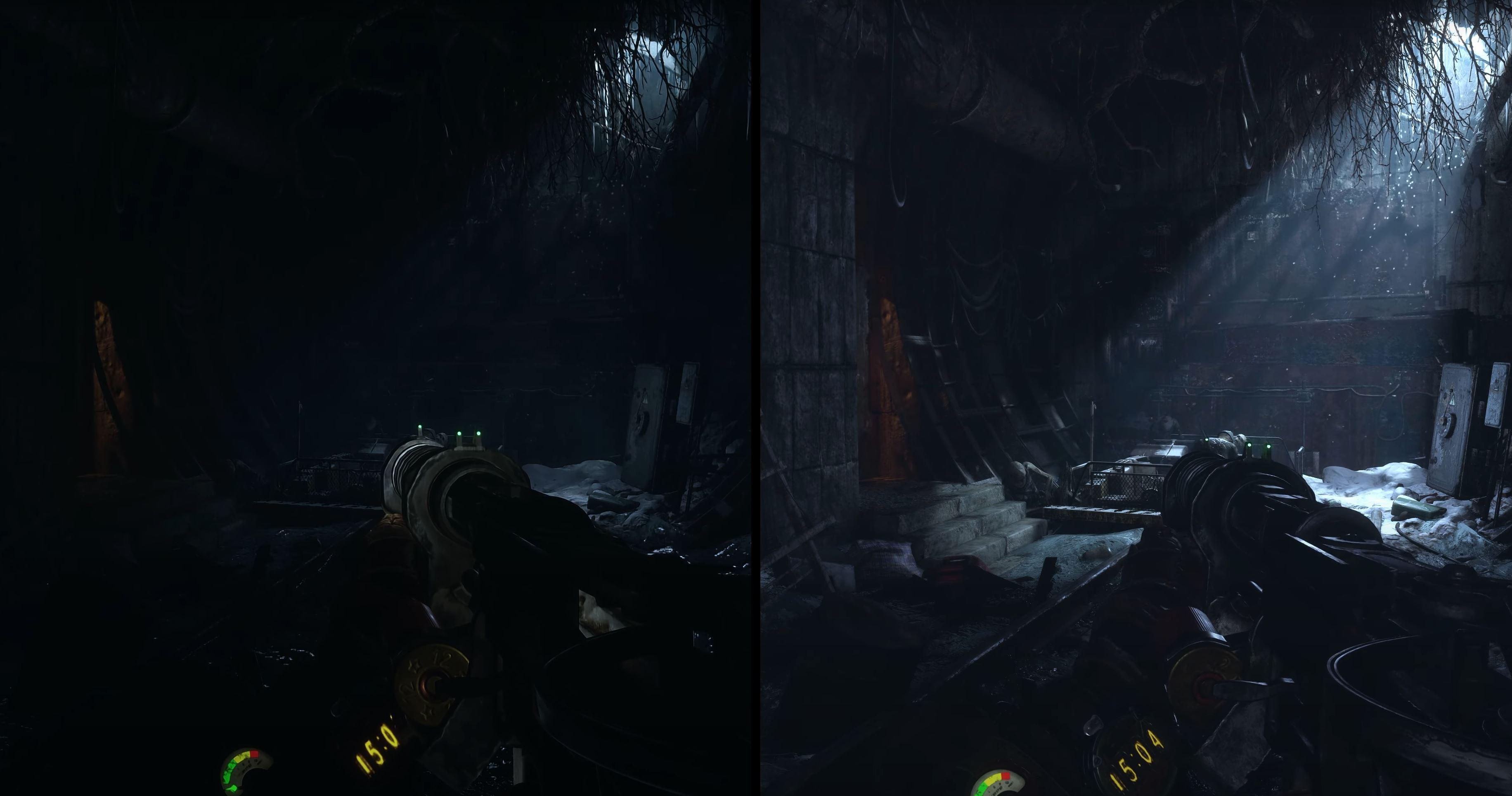 Left: Metro Exodus (2019) --- Right: Metro Exodus Enhanced Edition