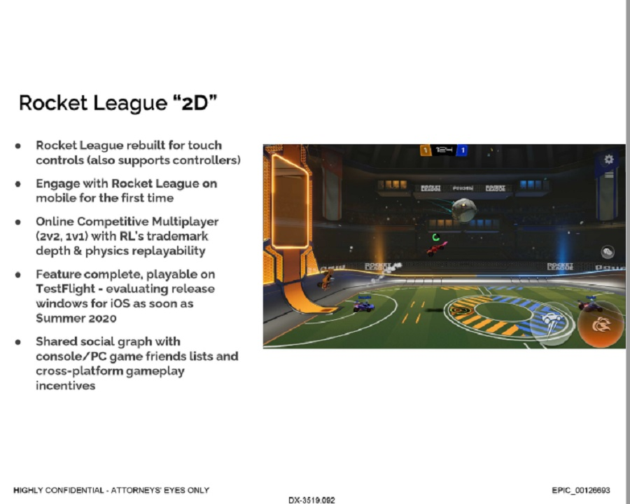 """""""Rocket League '2D'"""" is almost certainly referring to Rocket League Sideswipe: a 2.5D mobile version of Rocket League revealed back in March 2021."""