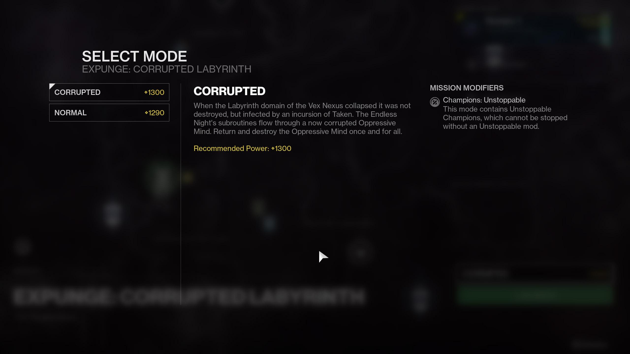 Corrupted Expunge Destiny 2