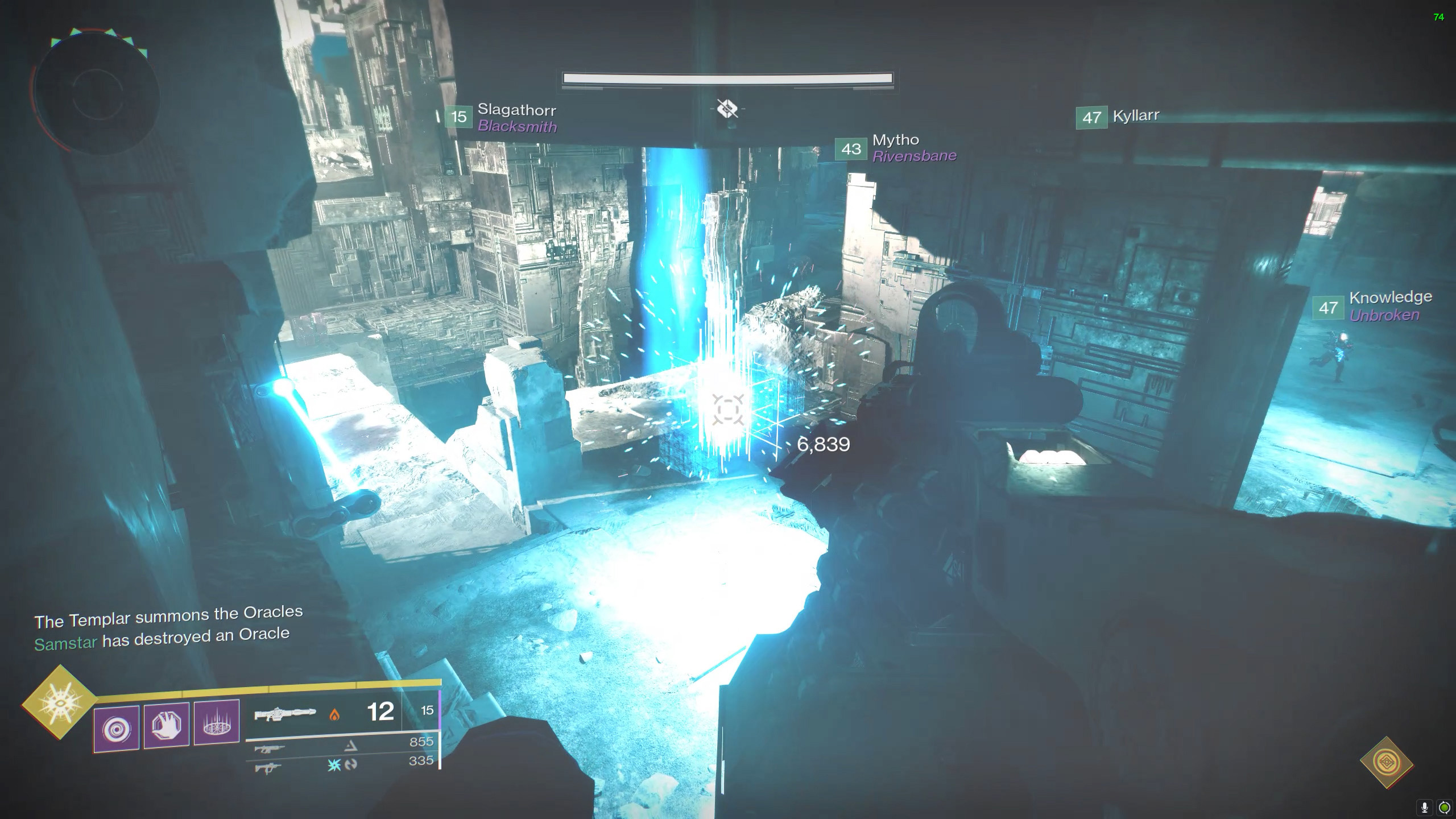 destiny 2 vault of glass the only oracle for you
