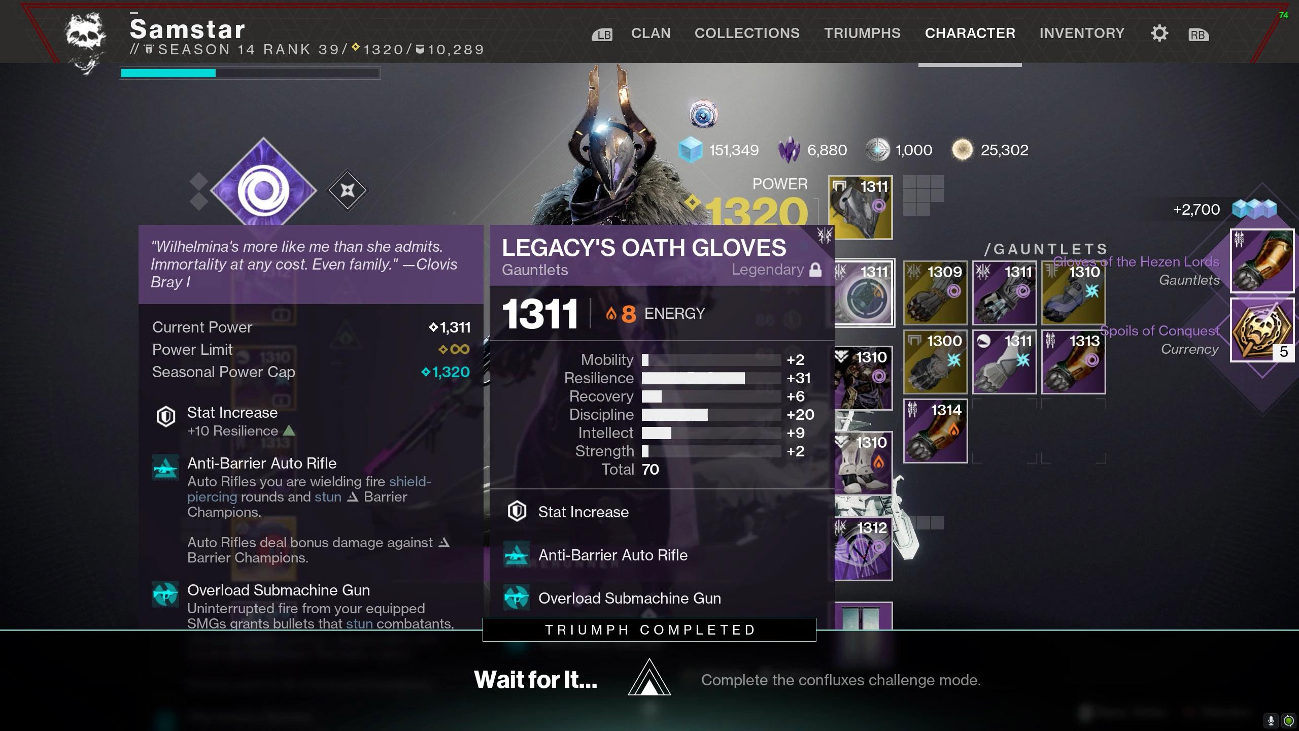 destiny 2 wait for it triumph