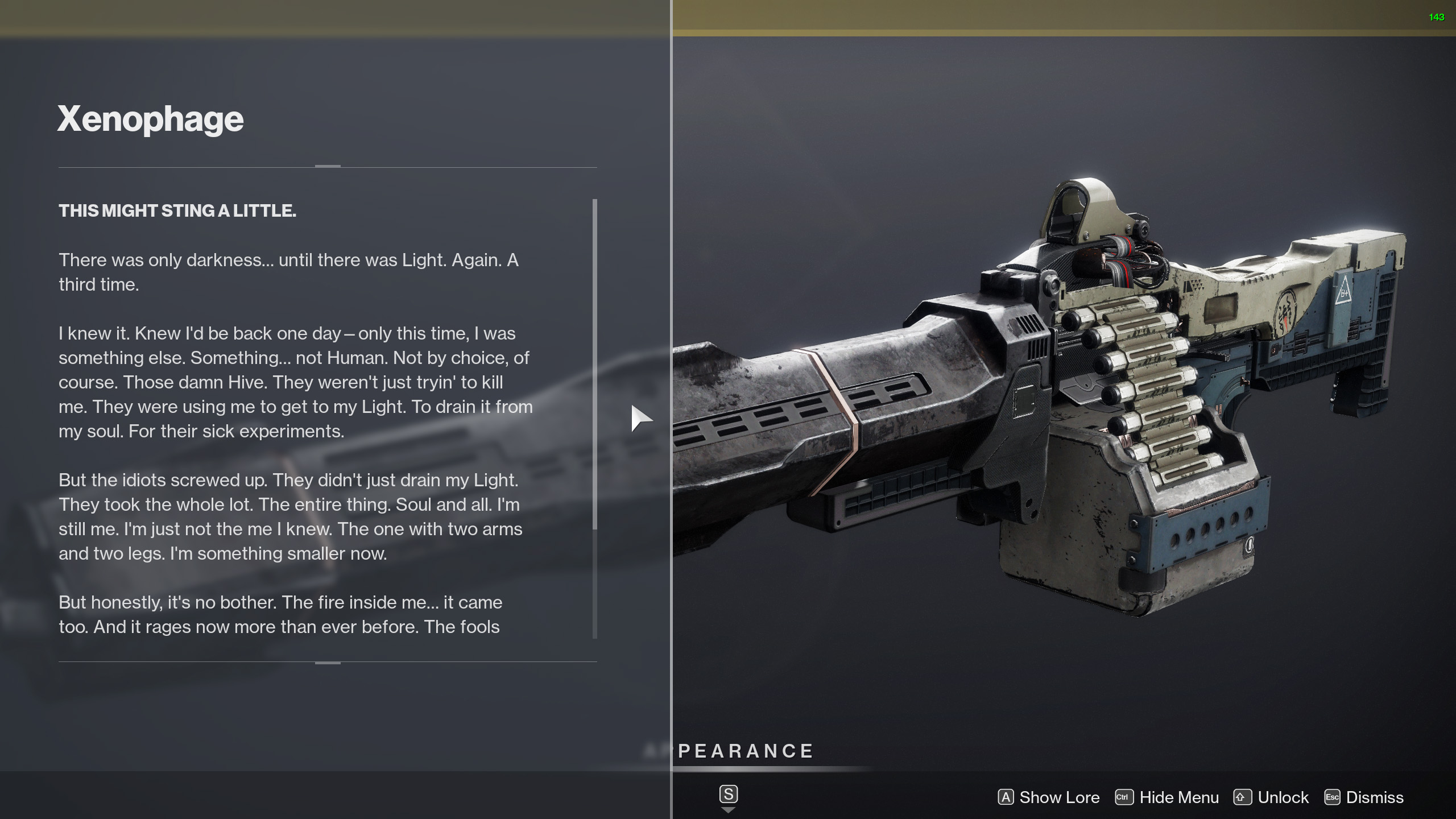 destiny 2 xenophage lore