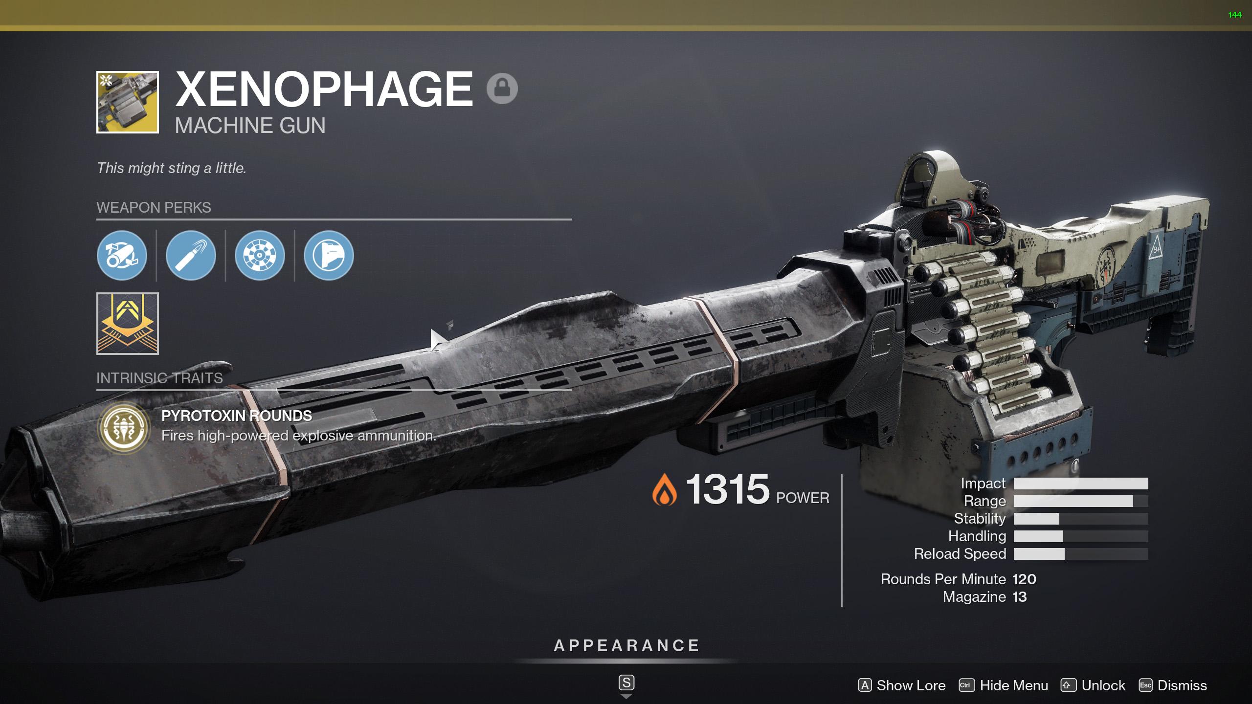 destiny 2 xenophage perks
