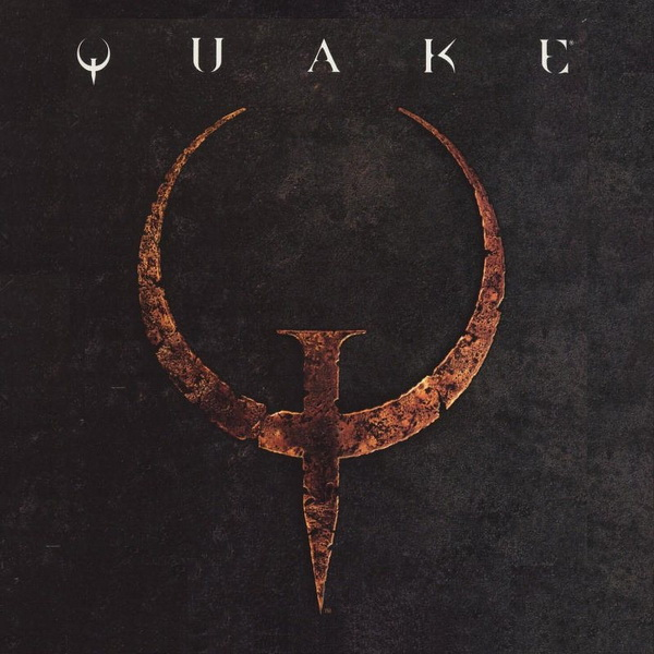 Quake's iconic logo.