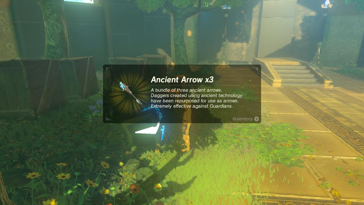 trial of the sword guide ancient arrows zelda botw