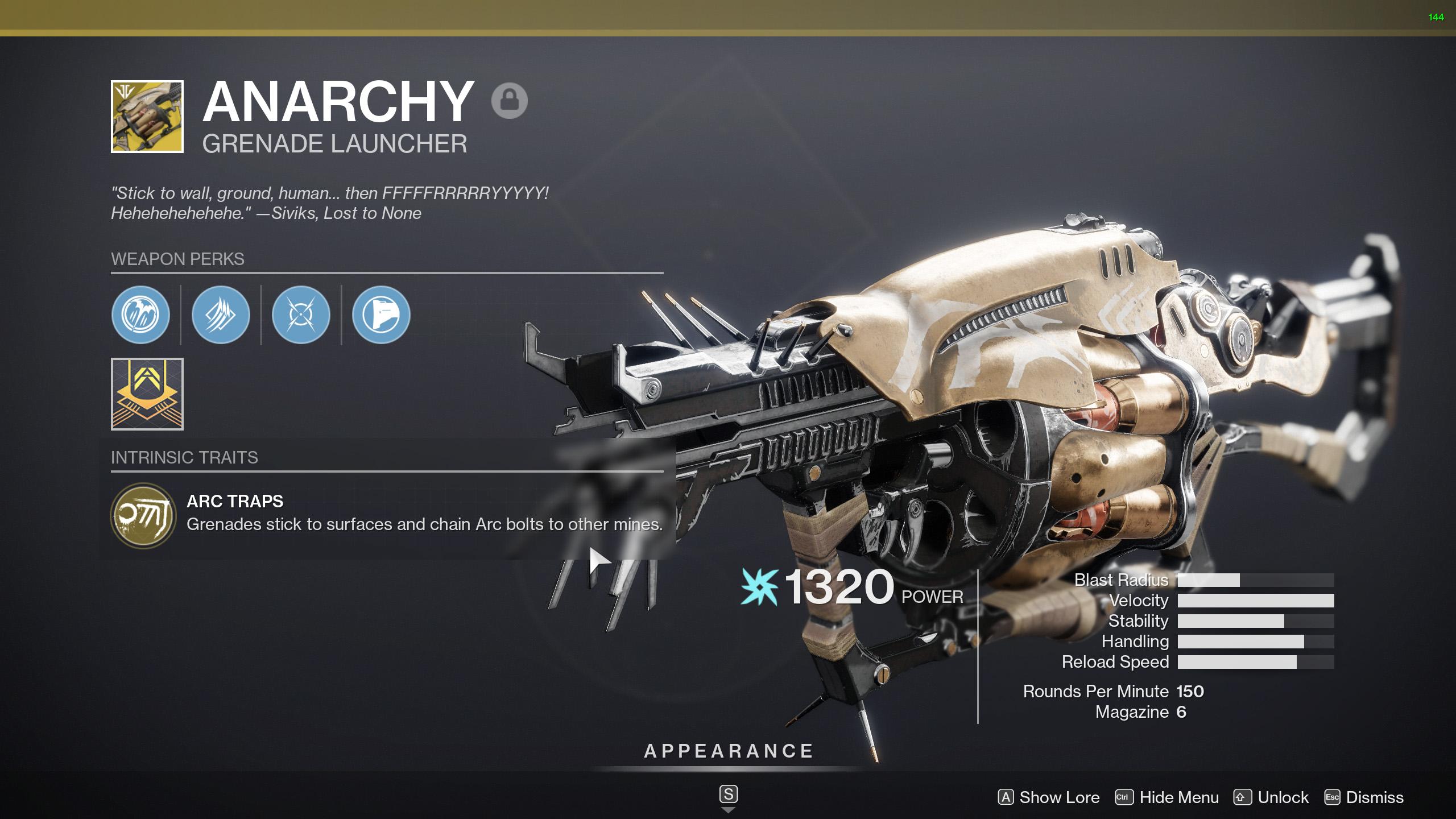 destiny 2 anarchy perks