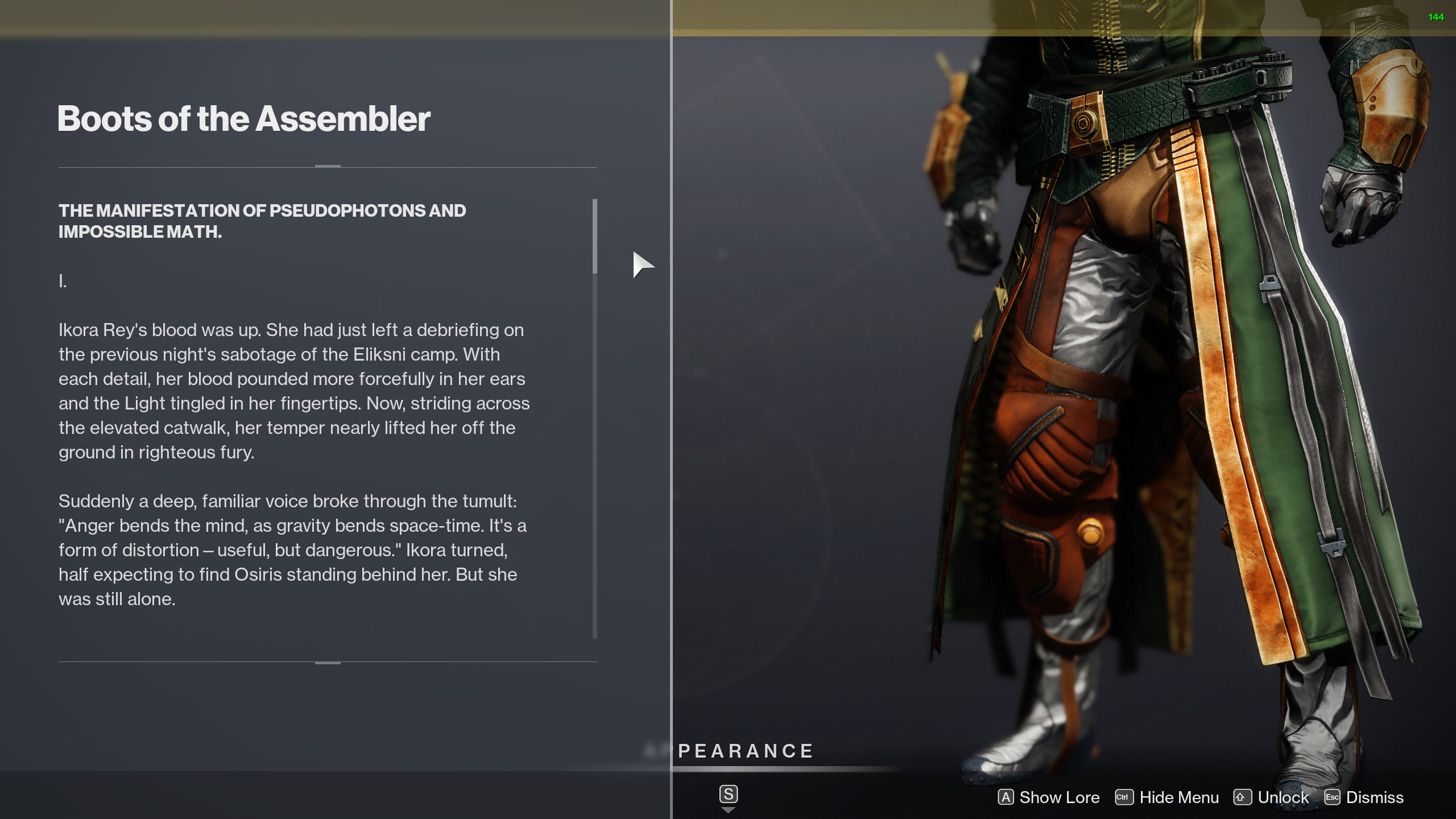 destiny 2 boots of the assembler lore