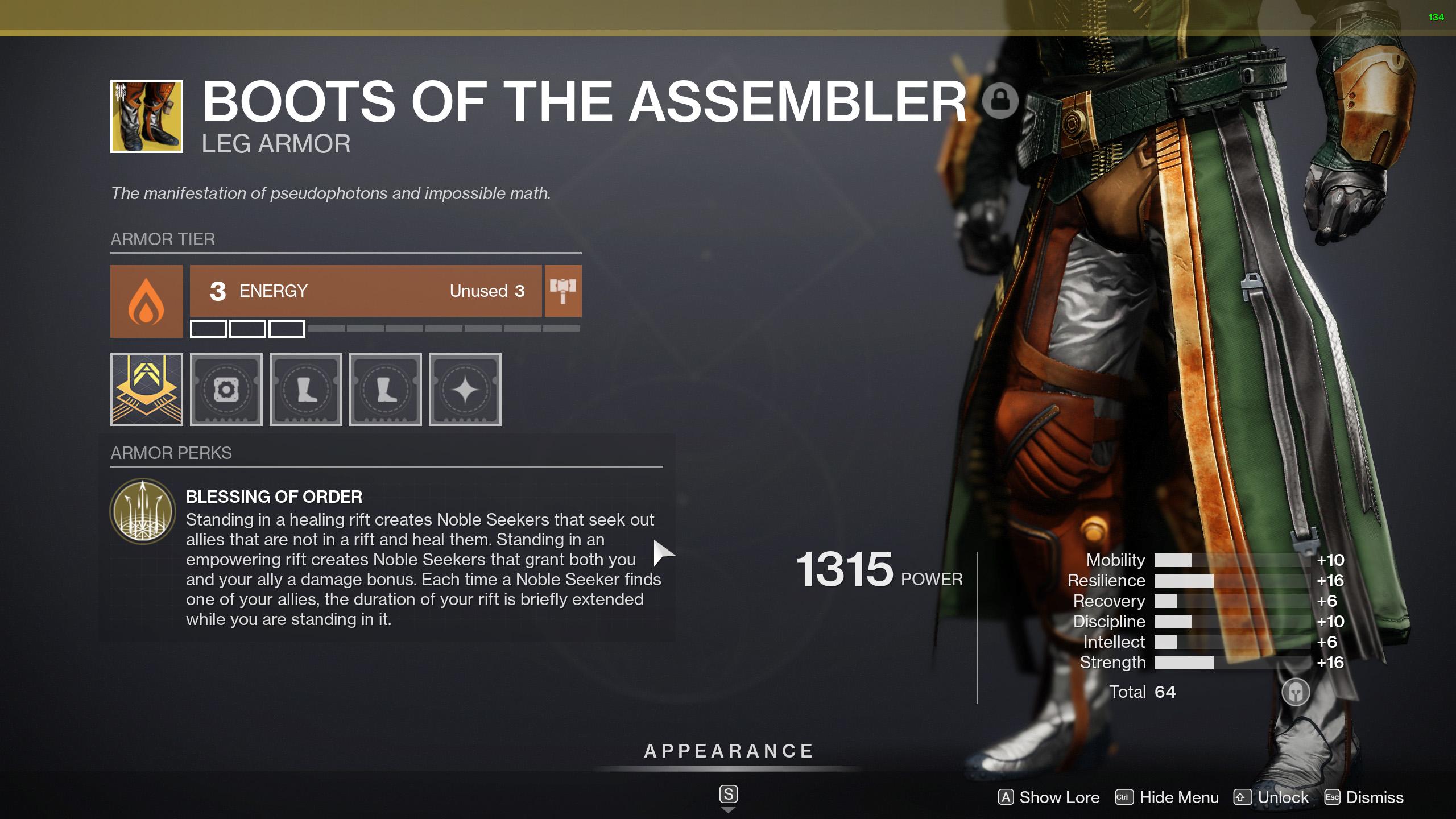 destiny 2 boots of the assembler perk blessing of order