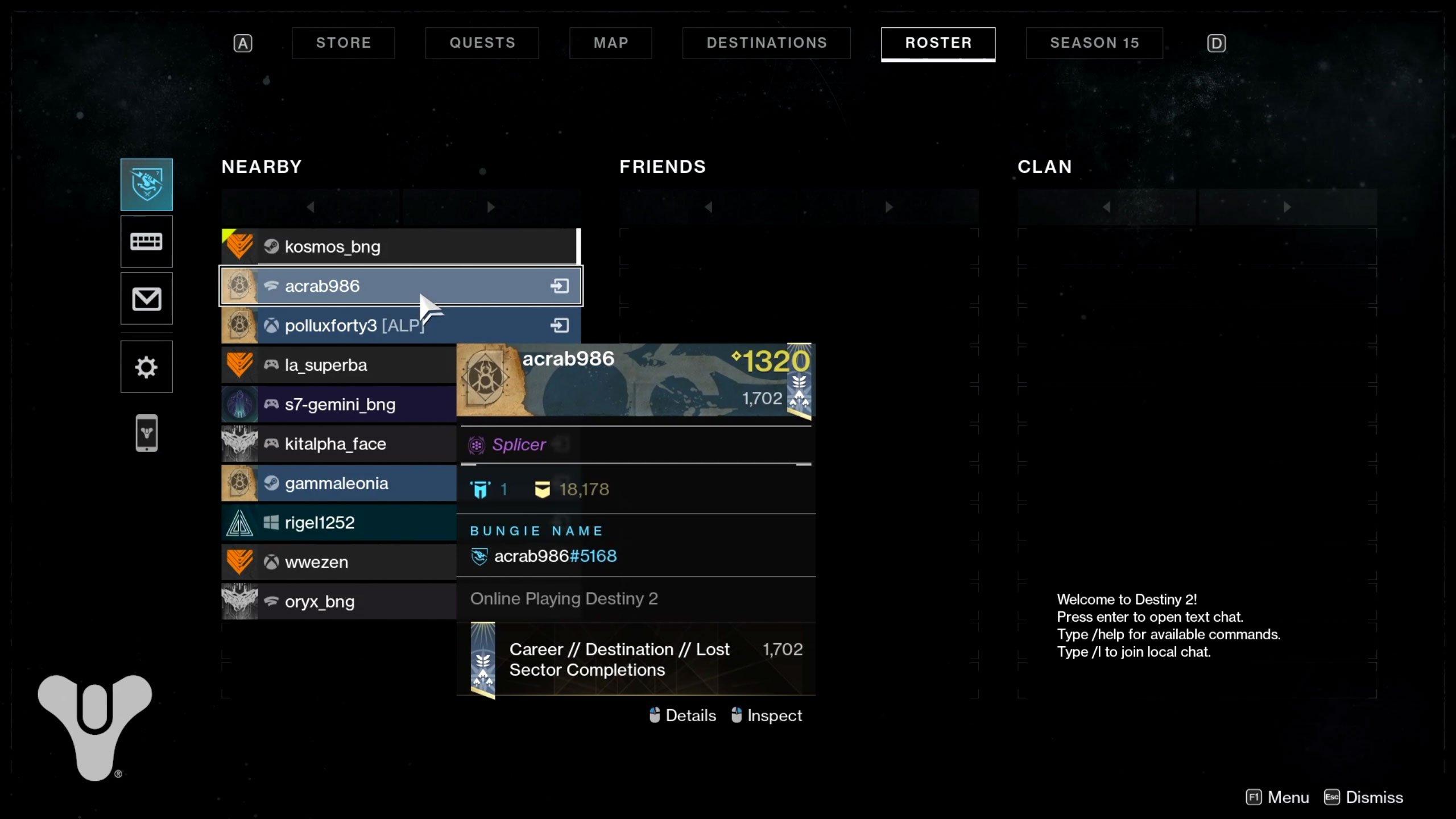 destiny 2 crossplay invite friend