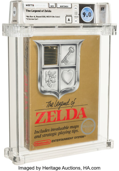 Heritage Auctions posted some images of The Legend of Zelda sealed NES cartridge.