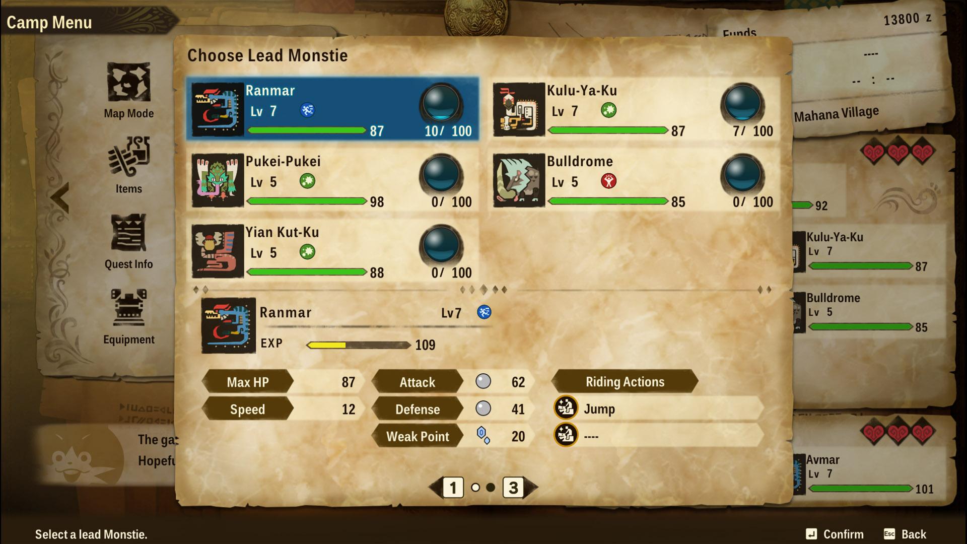 monster hunter stories 2 wings of ruin change lead monstie