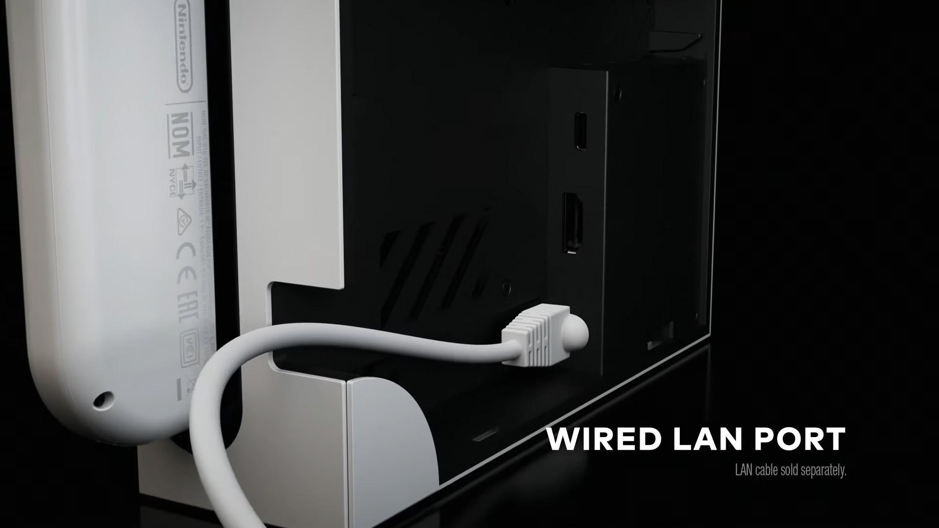 nintendo switch oled dock ethernet port
